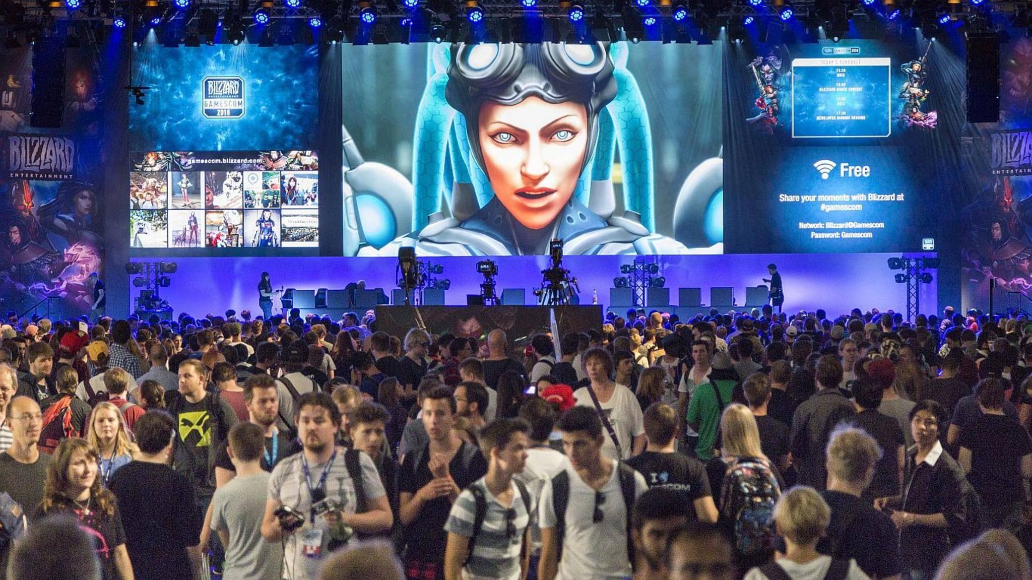 Rein in den Spaß: Auch auf der Gamescom 2017 werden wieder große Publisher wie Blizzard ihre nächsten Highlights vorstellen.