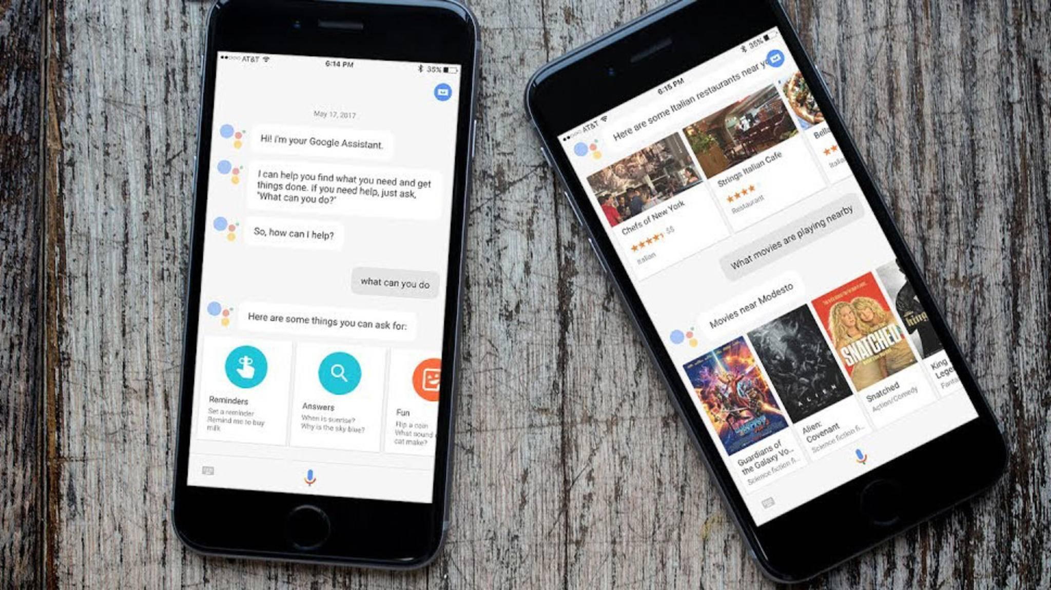 Jetzt auch in Deutschland für iPhones erhältlich: Der smarte Sprachdienst Google Assistant.