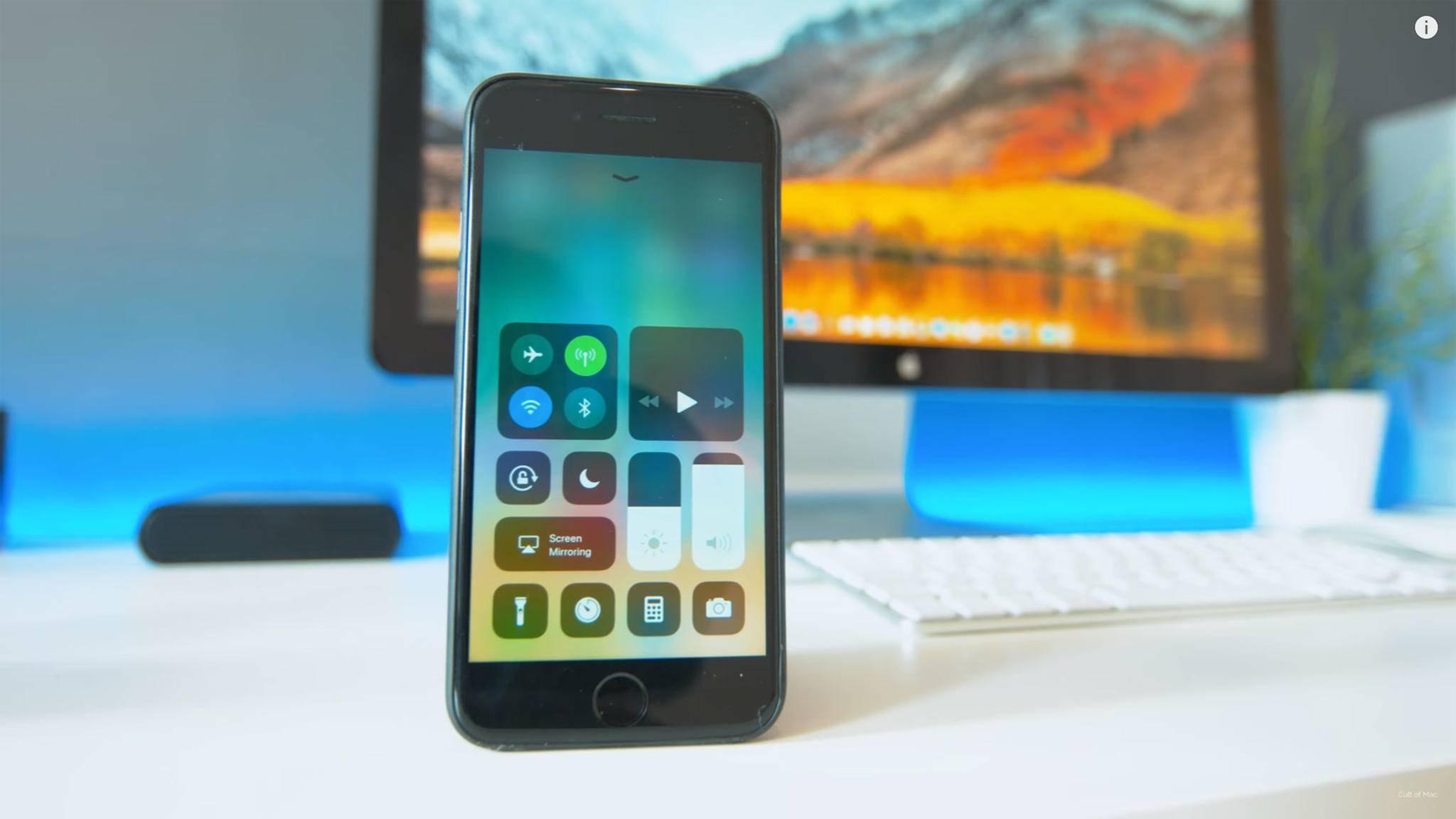 Mit iOS 11 werden sich einige Dinge auf Deinem iPhone deutlich ändern – etwa das rundum erneuerte Kontrollzentrum.