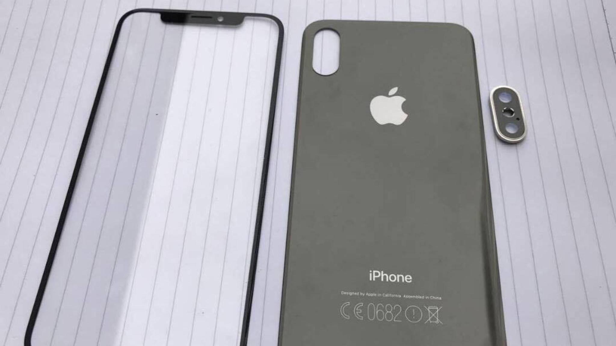 So sollen angeblich die ersten Bauteile für das iPhone 8 aussehen.