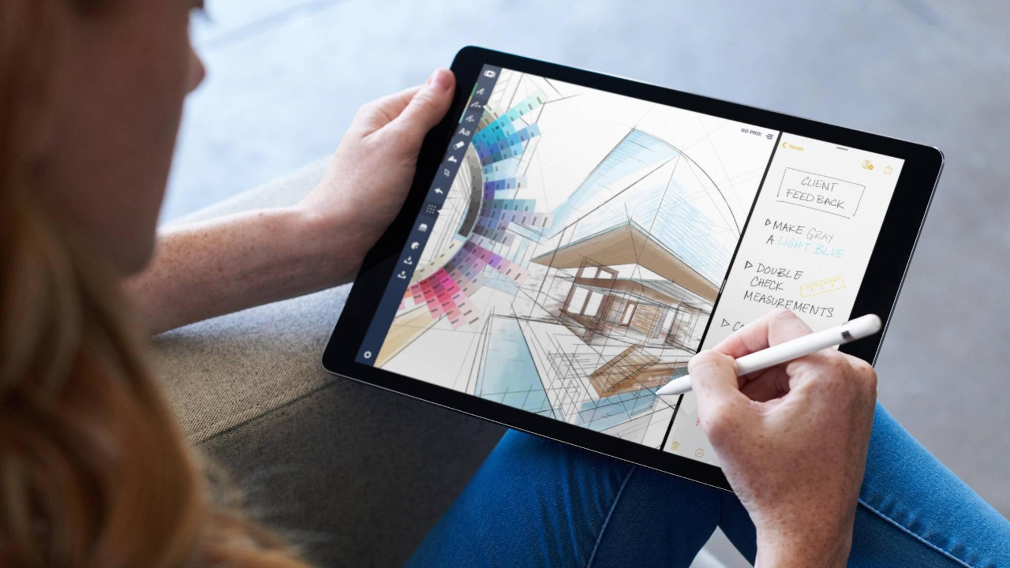 Auch auf dem neuen iPad Pro 10,5 Zoll wird iOS 11 natürlich für Verbesserungen sorgen.
