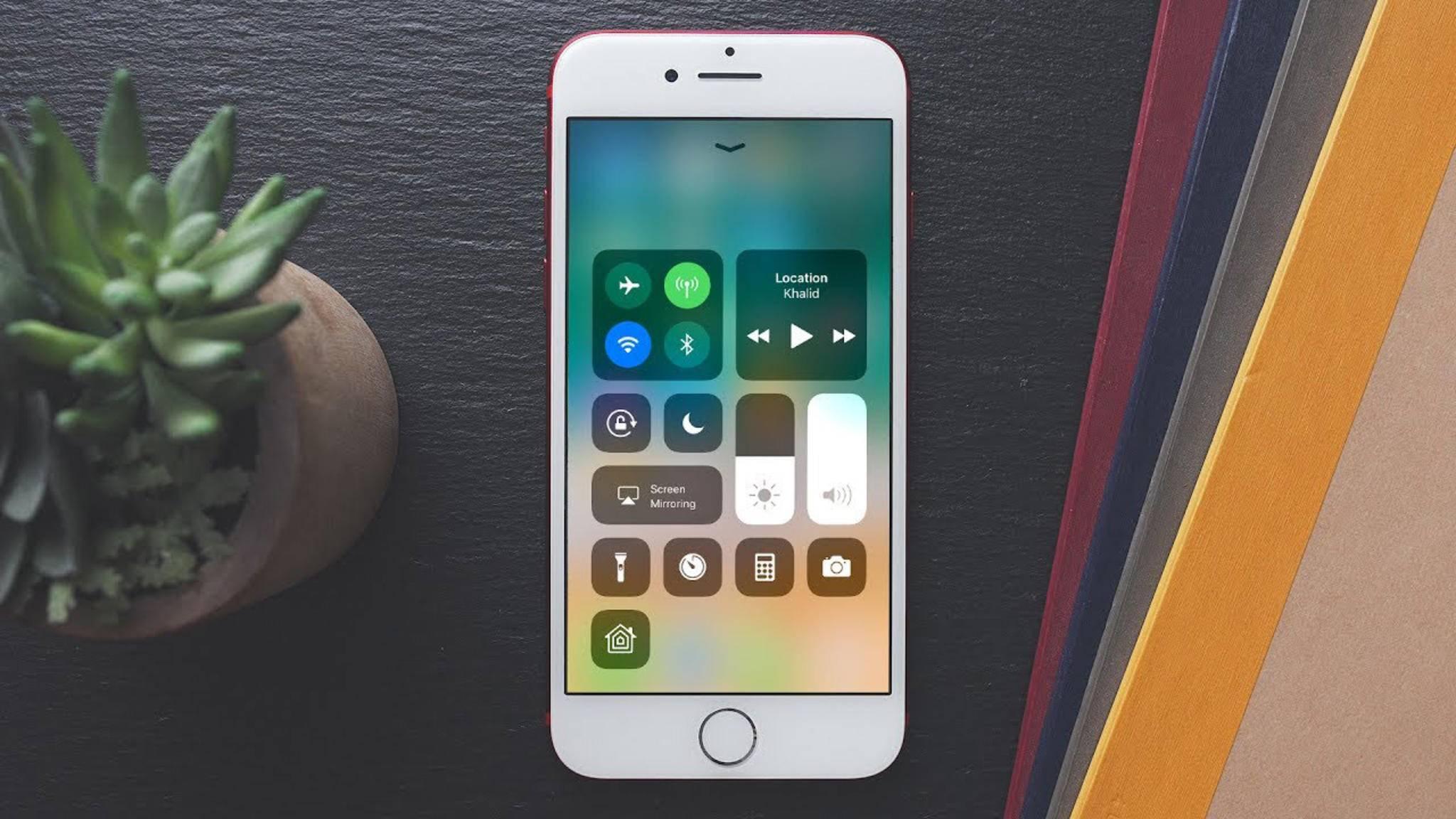iOS 11 bringt ein neues Kontrollzentrum mit.