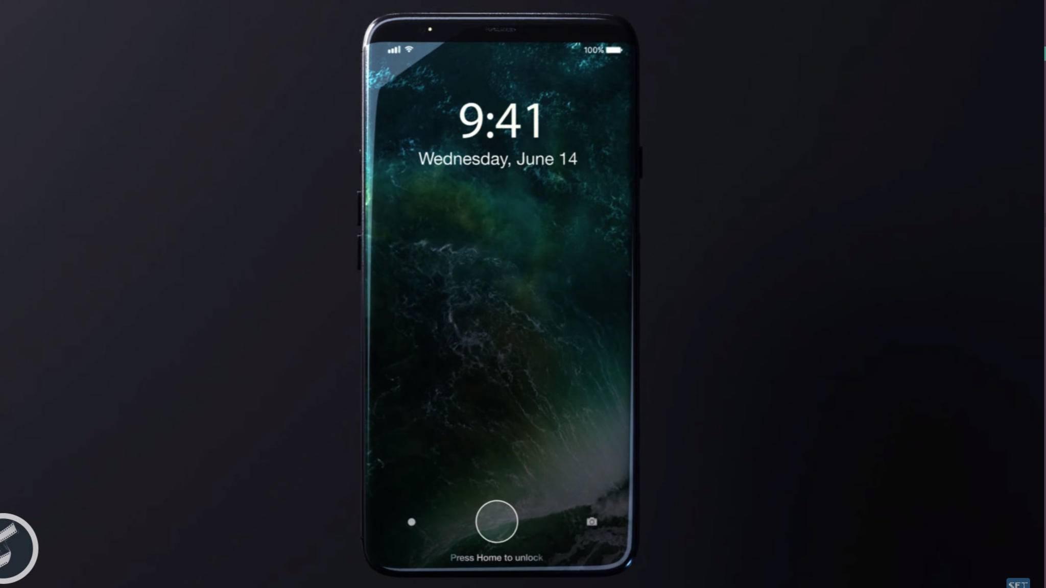 Für die Gesichtserkennung muss das iPhone 8 wohl nicht direkt vors Gesicht gehalten werden.