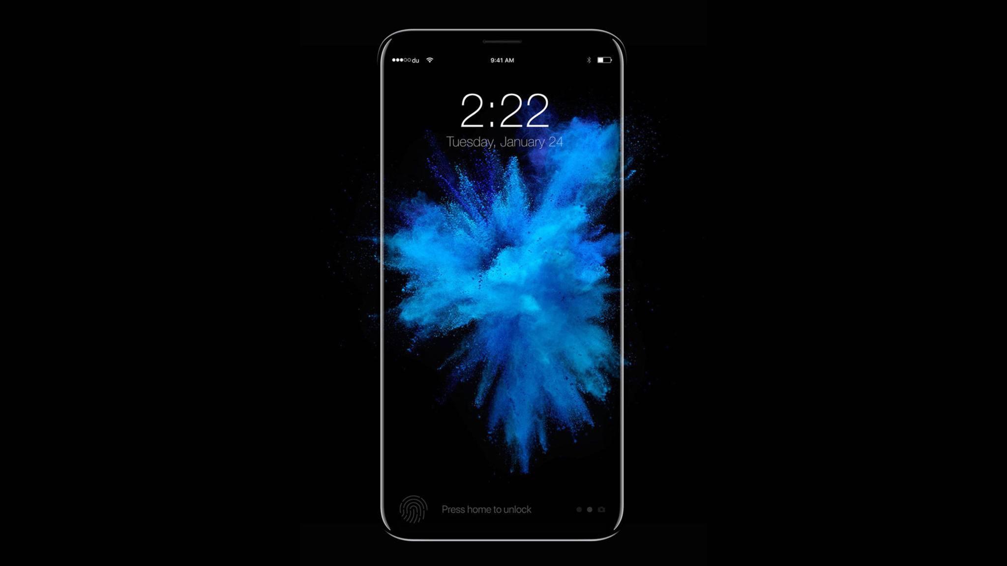 Touch ID unter dem Display? Womöglich könnte die Fingerabdruckerkennung beim iPhone 8 doch an anderer Stelle platziert sein.