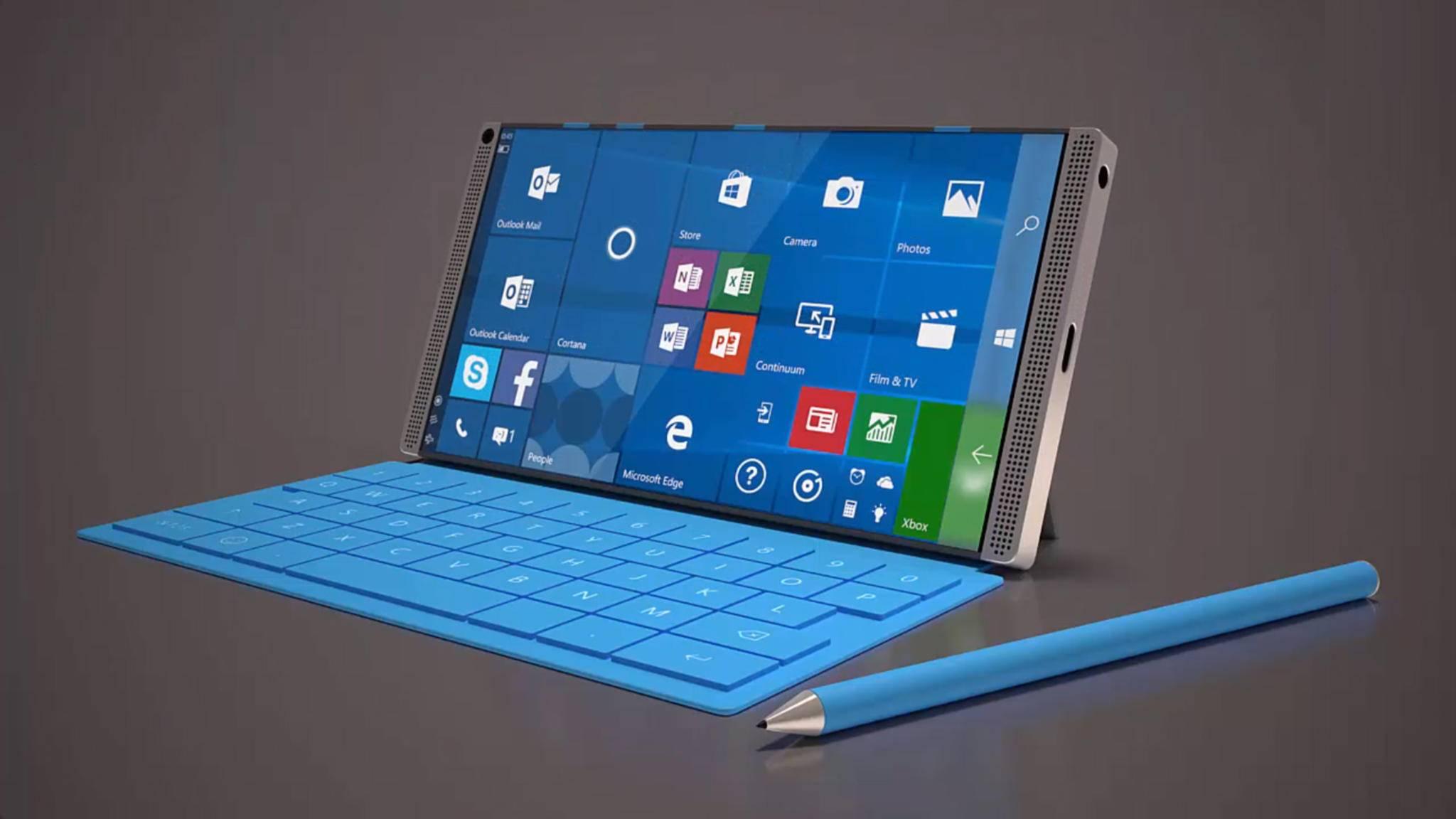So könnte es aussehen: Konzeptstudie des Microsoft Surface Phone.