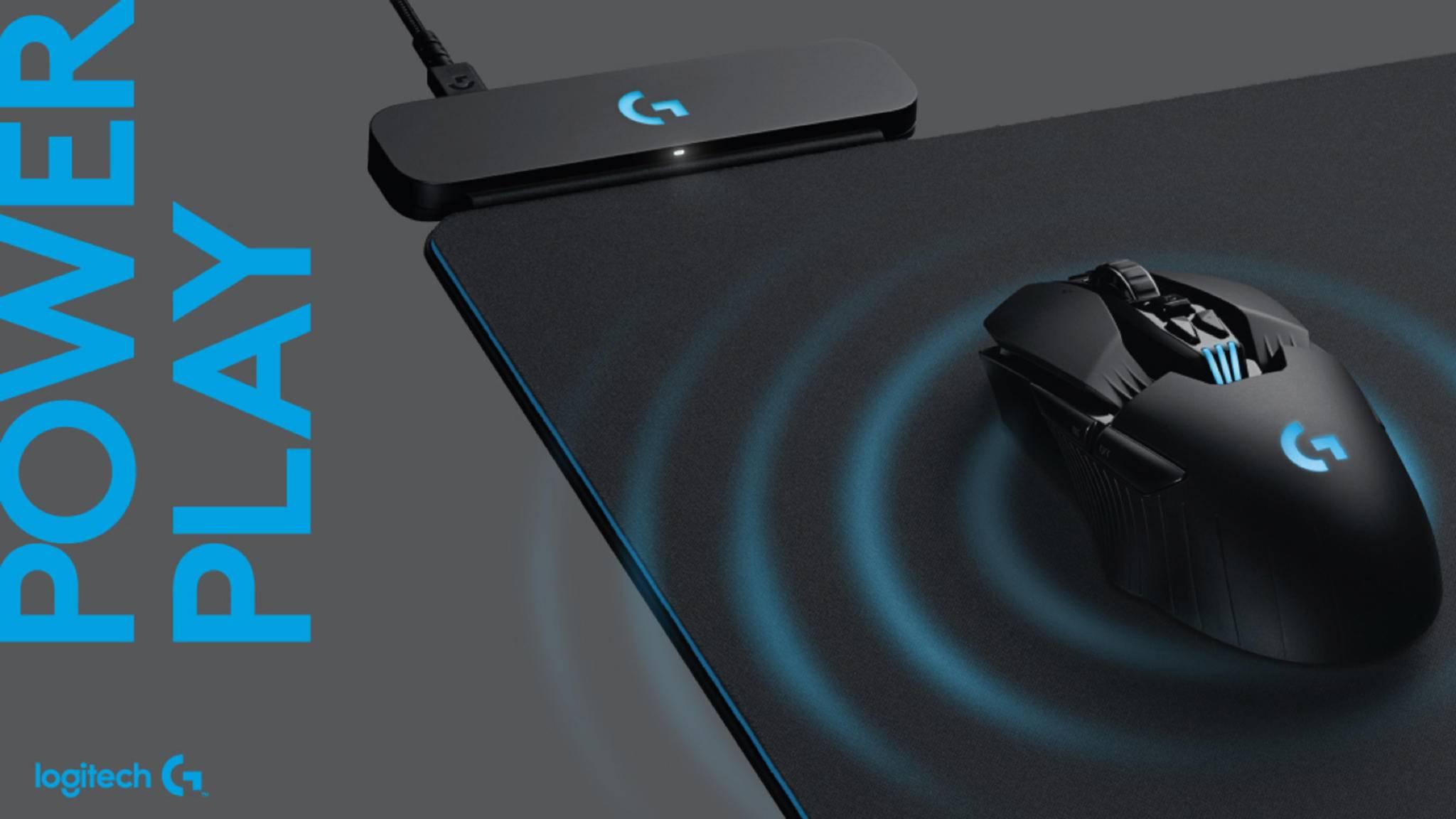 Das neue Mousepad von Logitech beherrscht das drahtlose Laden.