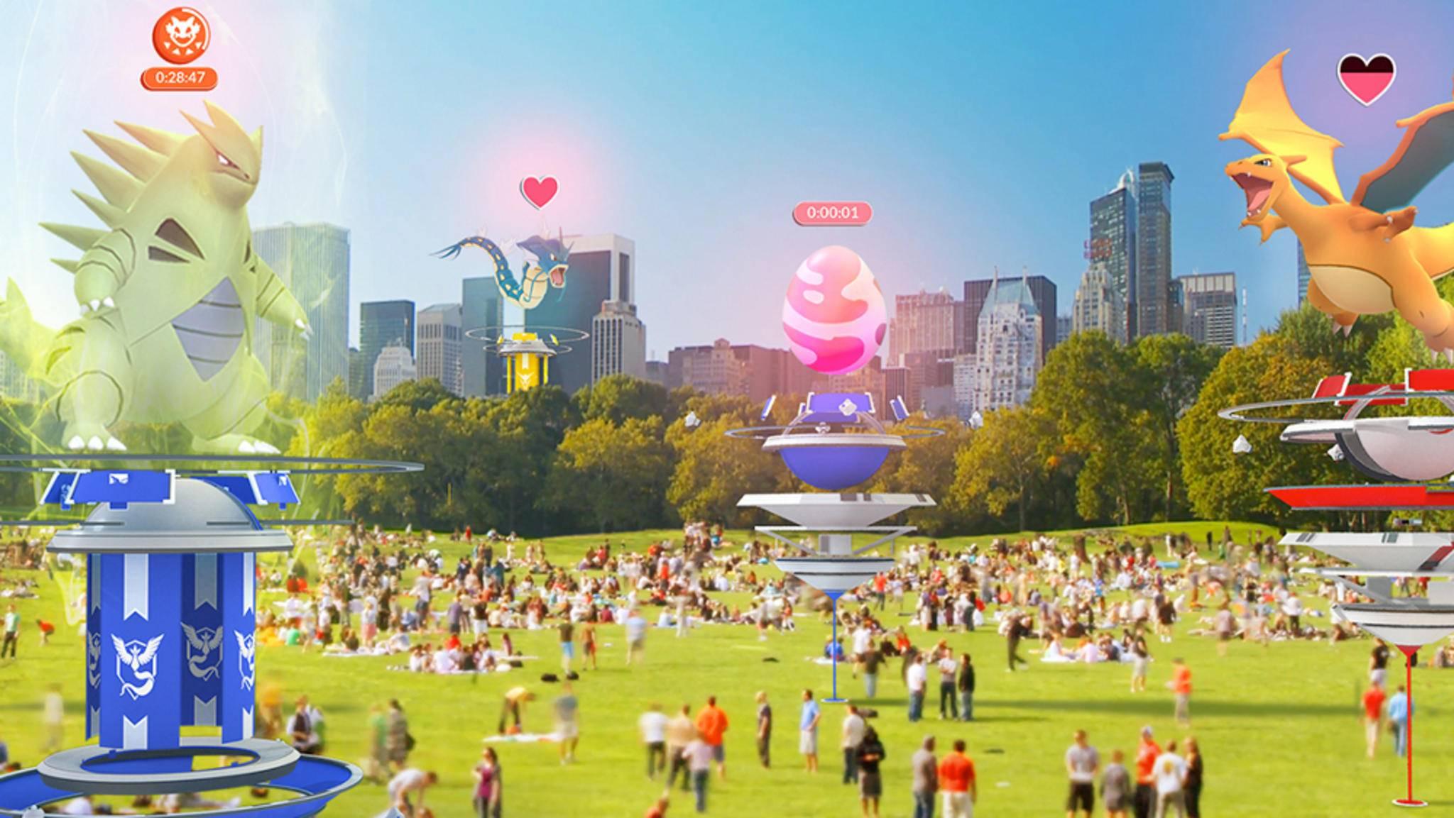 """Ein neues Update bringt mehr Interaktion zwischen Spielern zu """"Pokémon Go"""" und revolutioniert das Arena-System."""