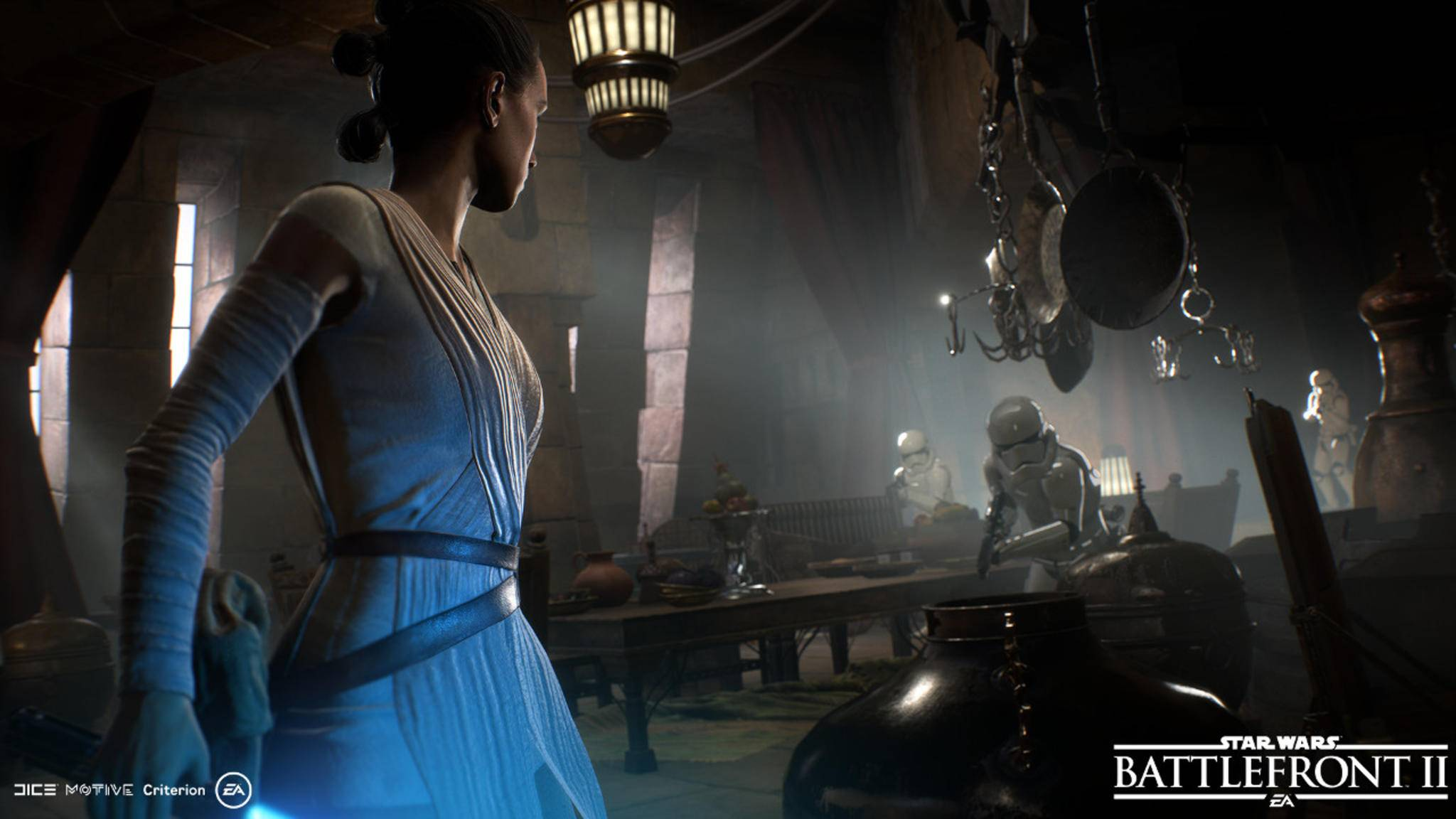 """Auch Figuren und Schauplätze der ganz neuen """"Star Wars""""-Trilogie sind mit von der Partie."""