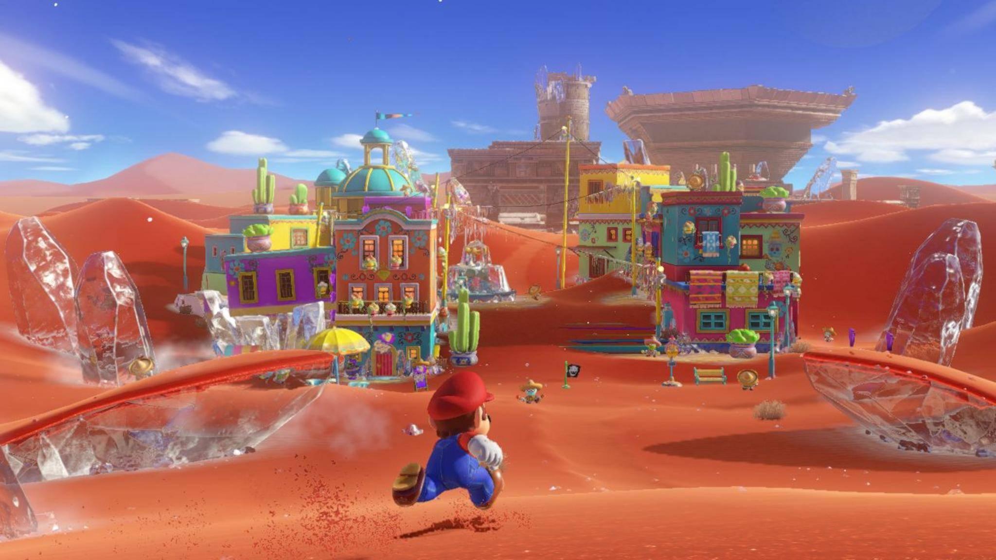 """Wüste, Stadt und Unterwasser: Mario bleibt auch in """"Super Mario Odyssey"""" wieder nichts erspart."""