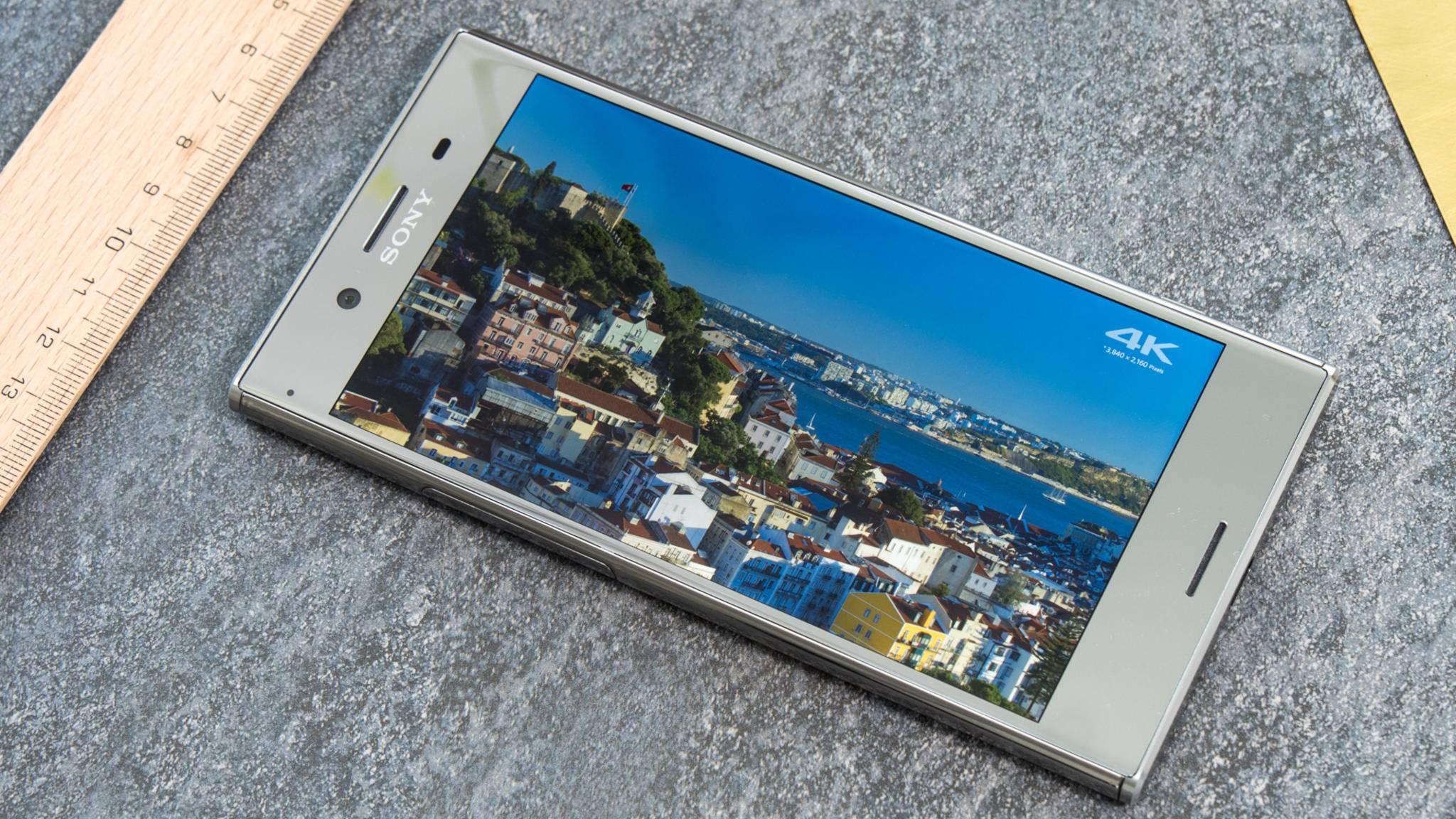 Das Sony Xperia XZ Premium wird mit einem 4K-HDR-Display beworben.