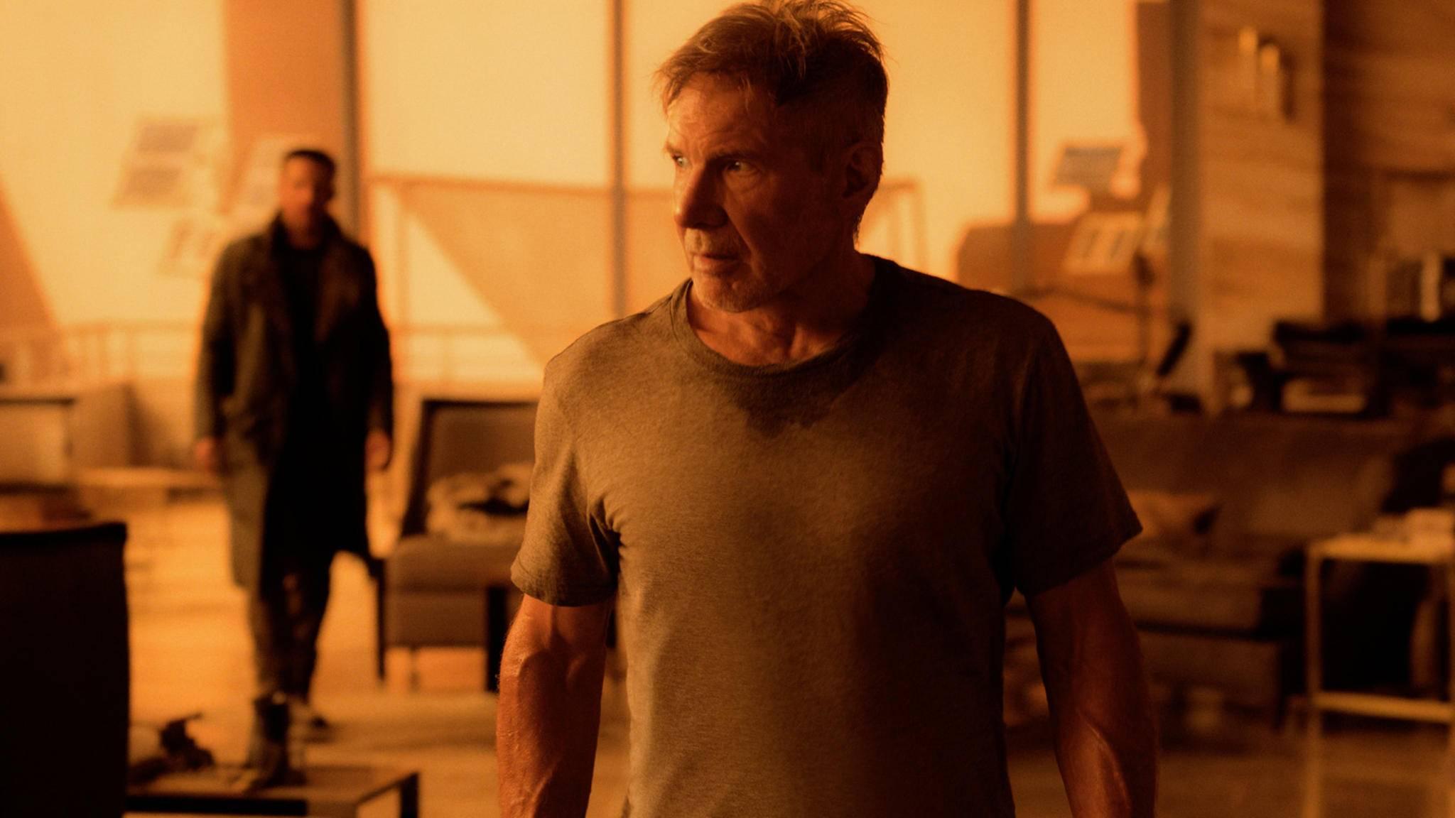 """In """"Blade Runner 2049"""" gerät Rick Deckard (Harrison Ford) 30 Jahre nach seinem letzten Einsatz erneut ins Kreuzfeuer."""