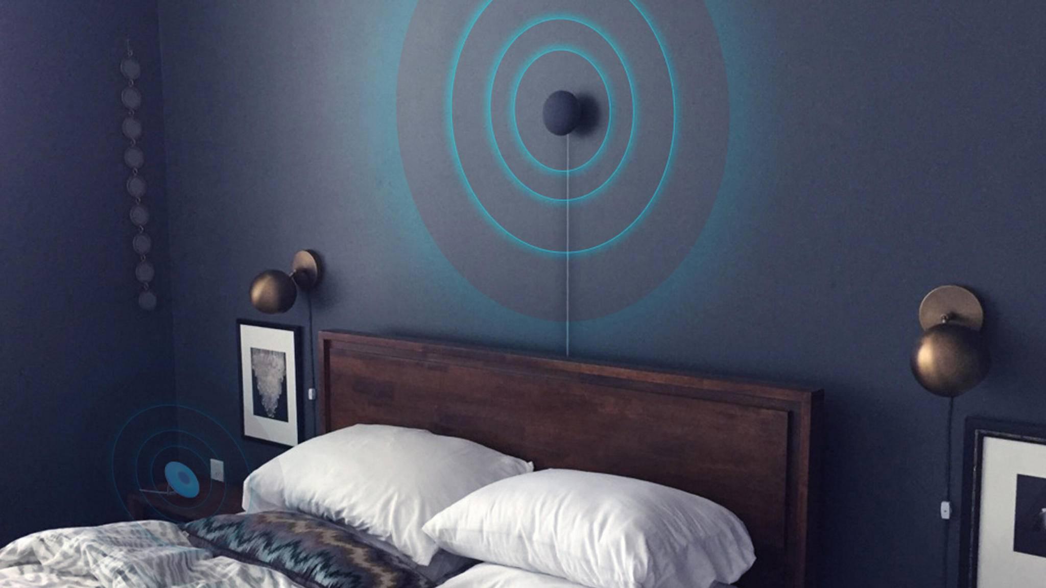 Der Circadia Sleep Tracker soll aus bis zu 2,4 Metern Entfernung akkurate Daten liefern können.