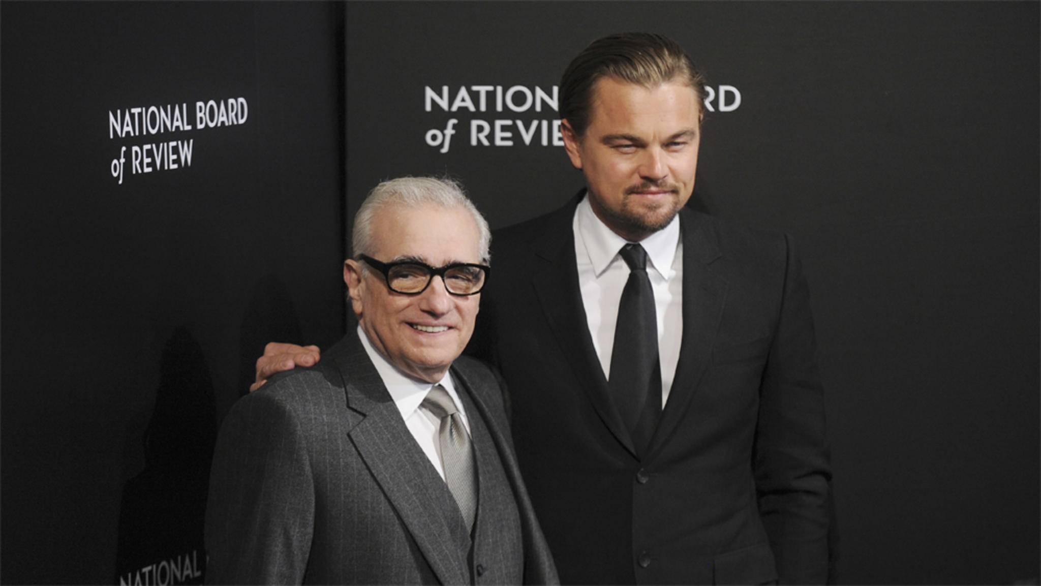 """Es wird mal wieder Zeit: Nach """"The Wolf of Wall Street"""" winkt die siebte Zusammenarbeit zwischen Martin Scorsese und Leonardo DiCaprio."""