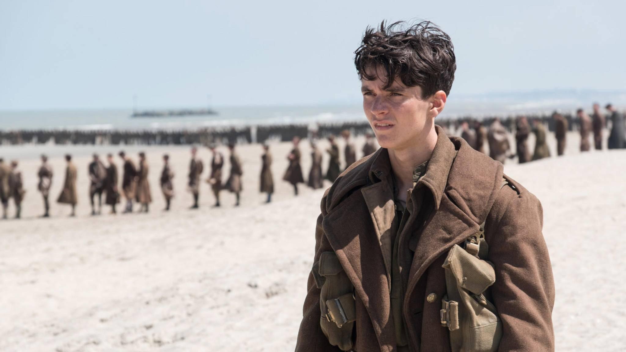 """Der britische Newcomer Fionn Whitehead spielt eine der zentralen Rollen in Christopher Nolans """"Dunkirk""""."""