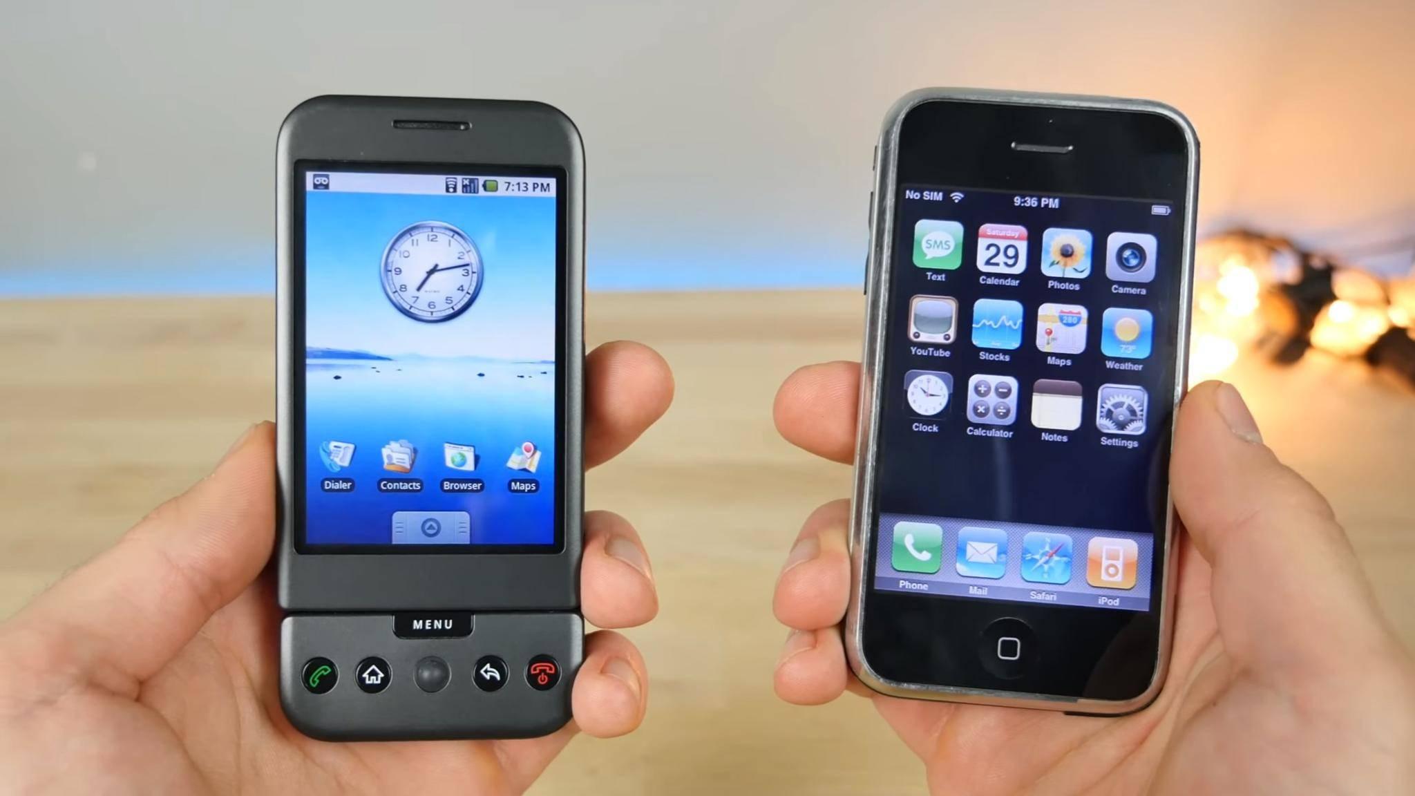 Wie gut konnte das erste Android-Smartphone mit dem iPhone mithalten?