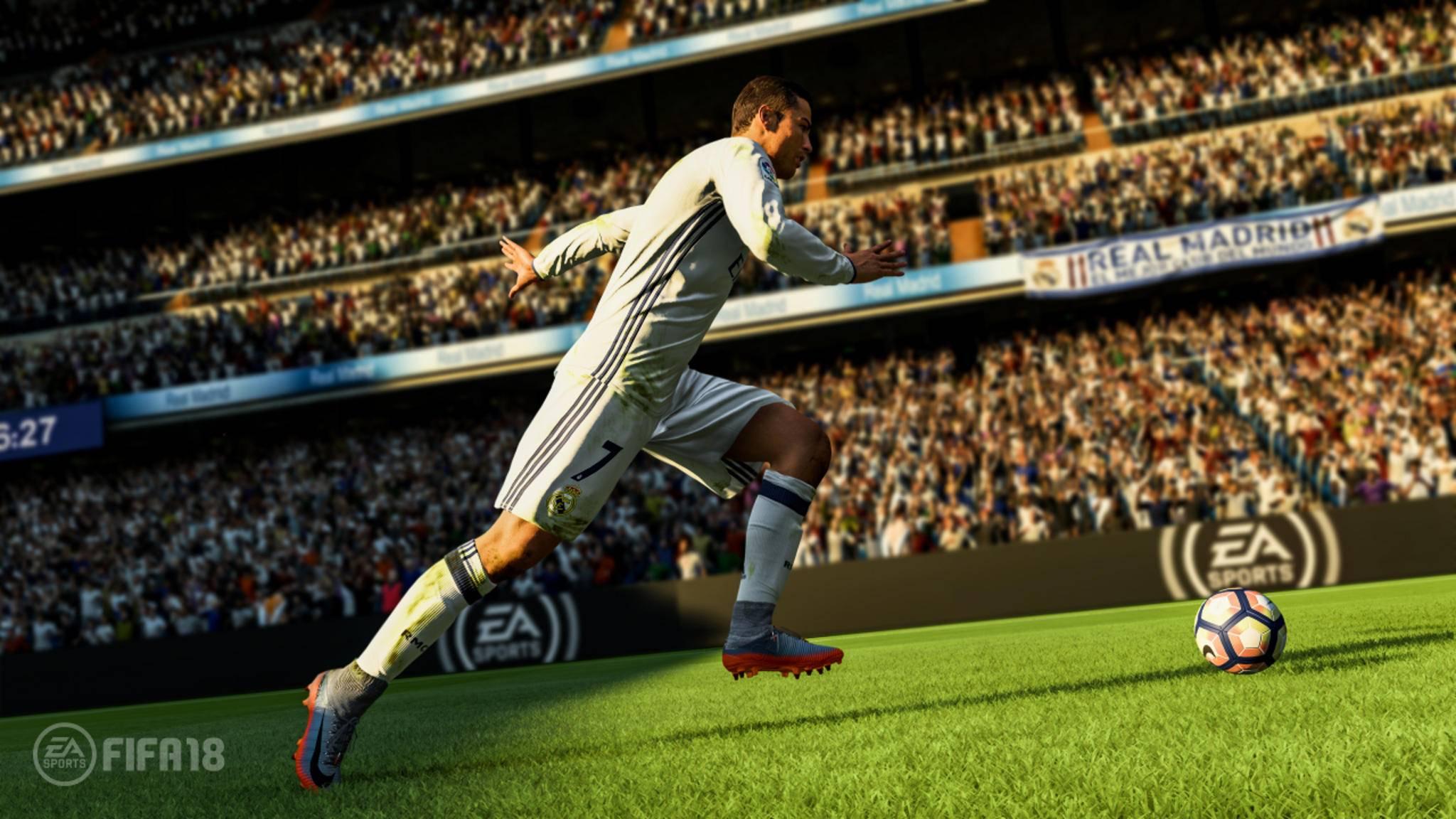 """Cristiano Ronaldo ist Cover-Star von """"FIFA 18""""."""