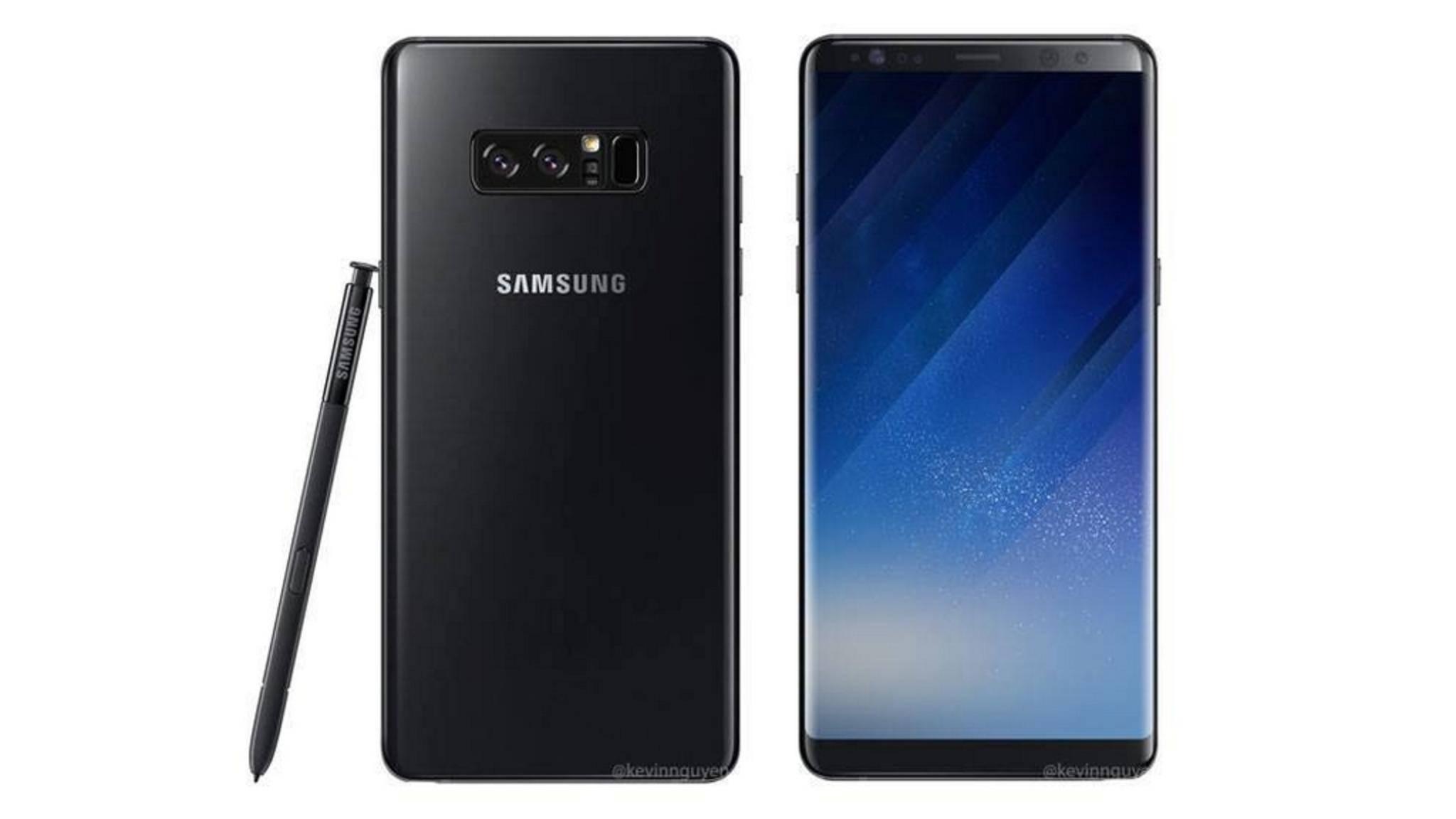 Das bislang beste Bild zum Samsung Galaxy Note 8.