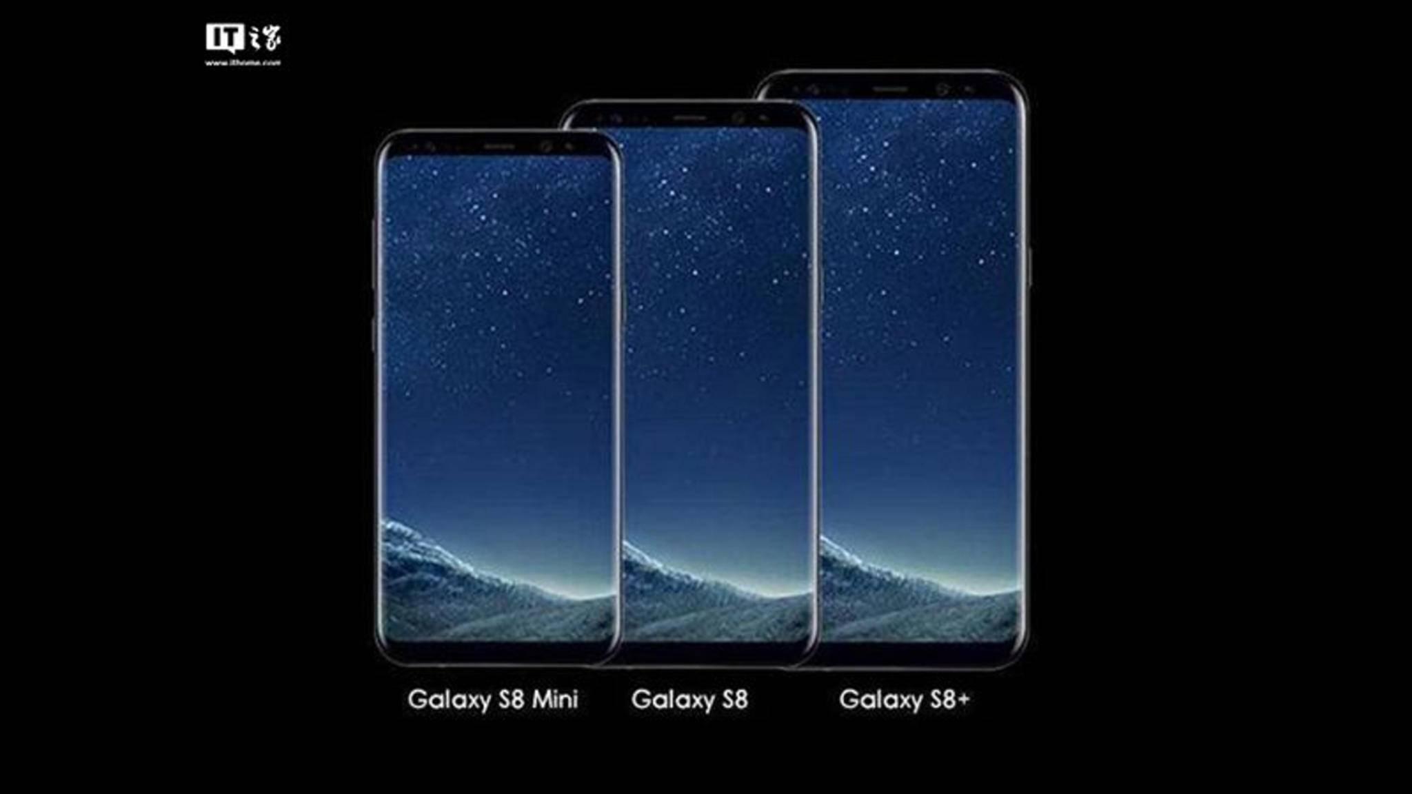 So groß könnte das Galaxy S8 Mini im Vergleich zu den anderen Modellen ausfallen.