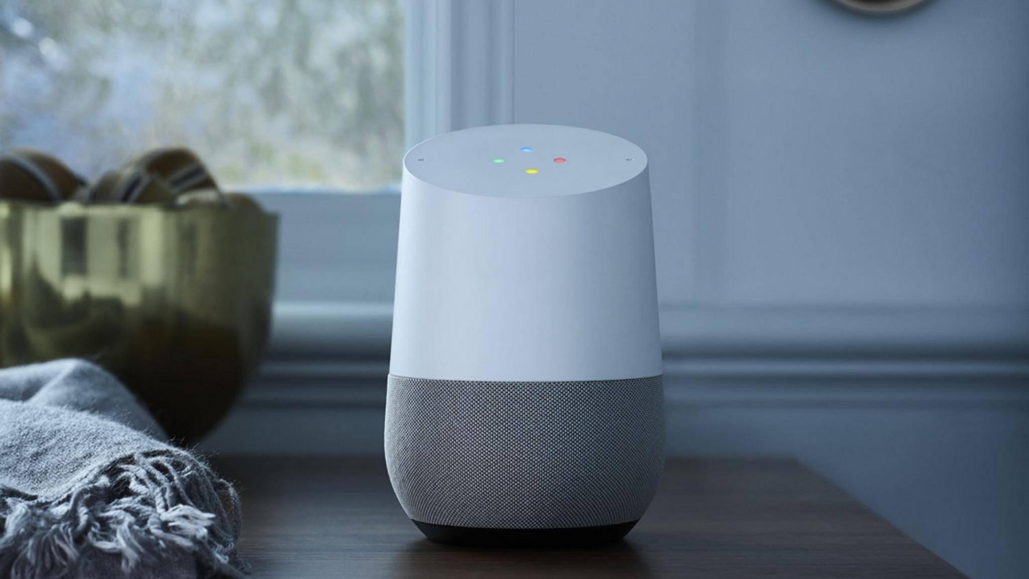 Google Home läuft mit dem Sprachassistenten Google Assistant.