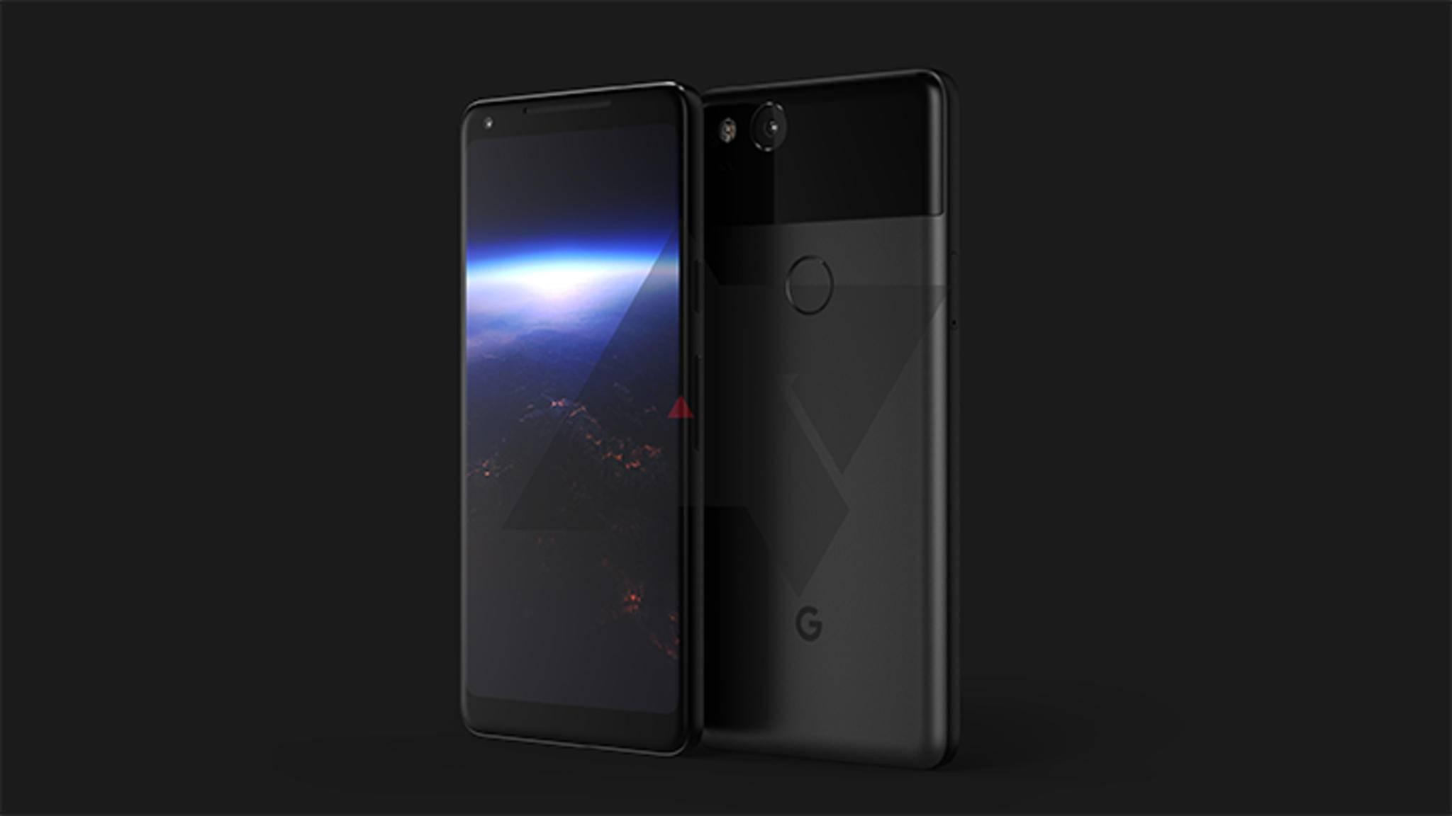 So soll das Google Pixel 2 XL aussehen.