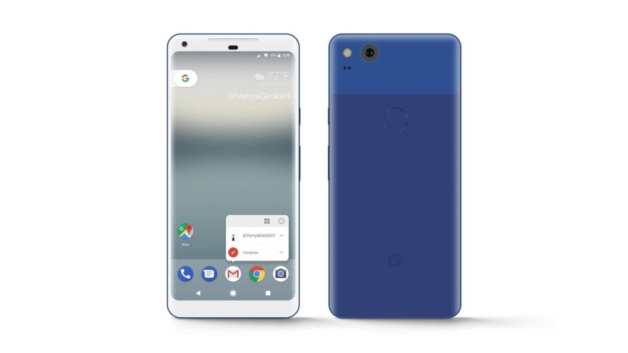 Das Google Pixel XL (2017) soll auch in Blau und Silber auf den Markt kommen.