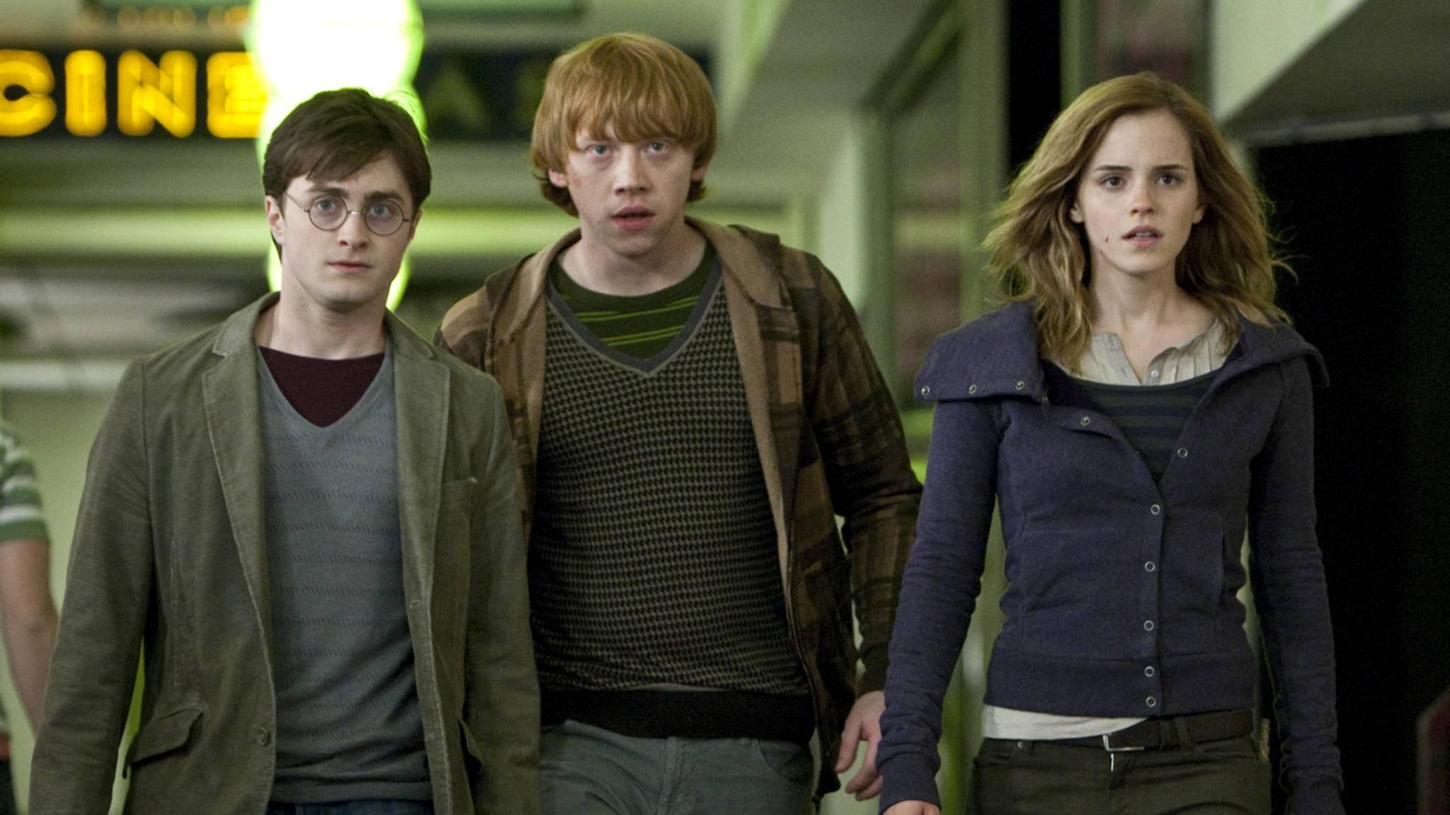 """In """"Harry Potter"""" haben wir Daniel Radcliffe, Rupert Grint und Emma Watson (v.l.n.r.) erwachsen werden sehen."""