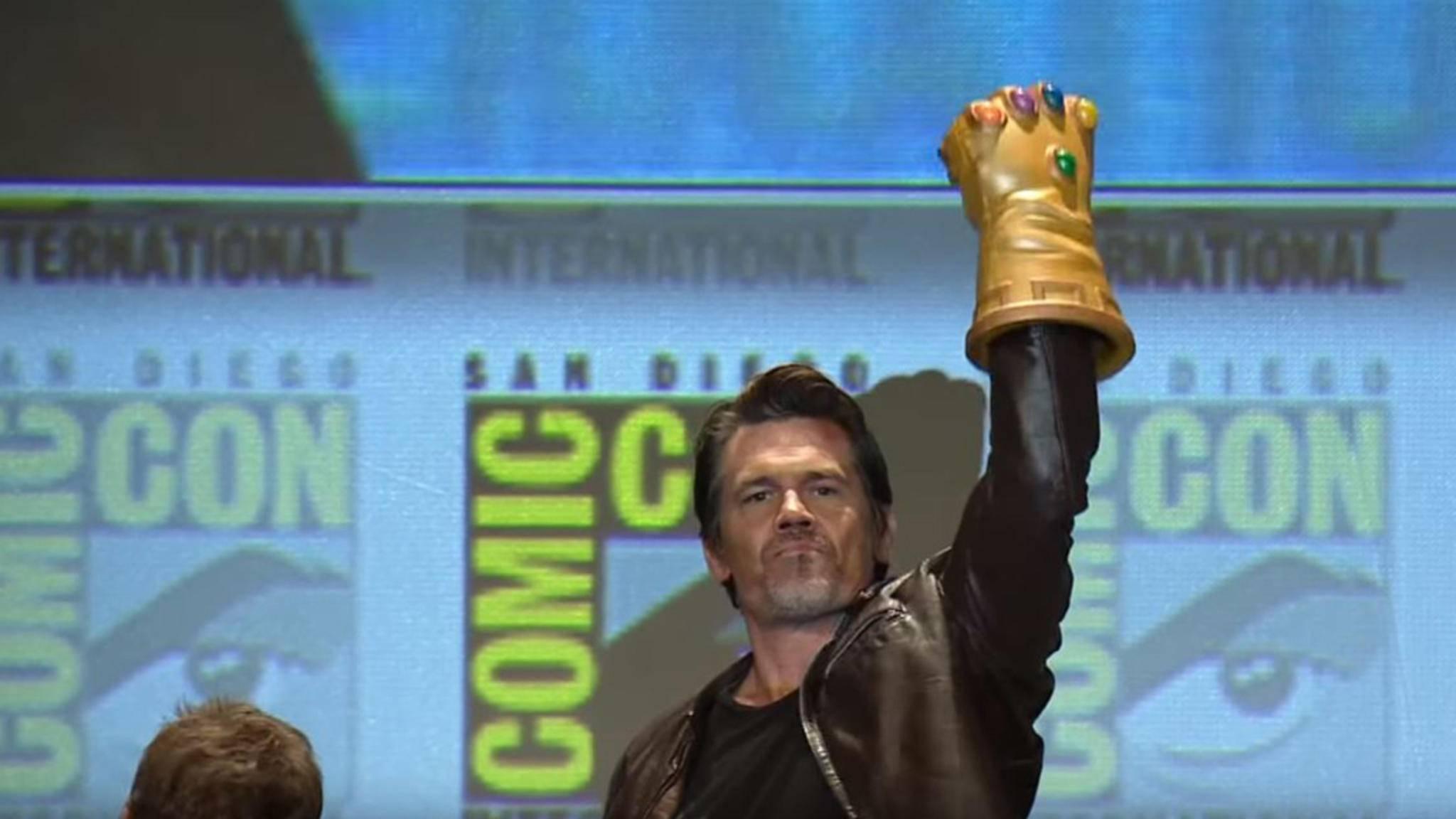 Als Thanos will Josh Brolin den mächtigen Infinity Gauntlet vervollständigen.