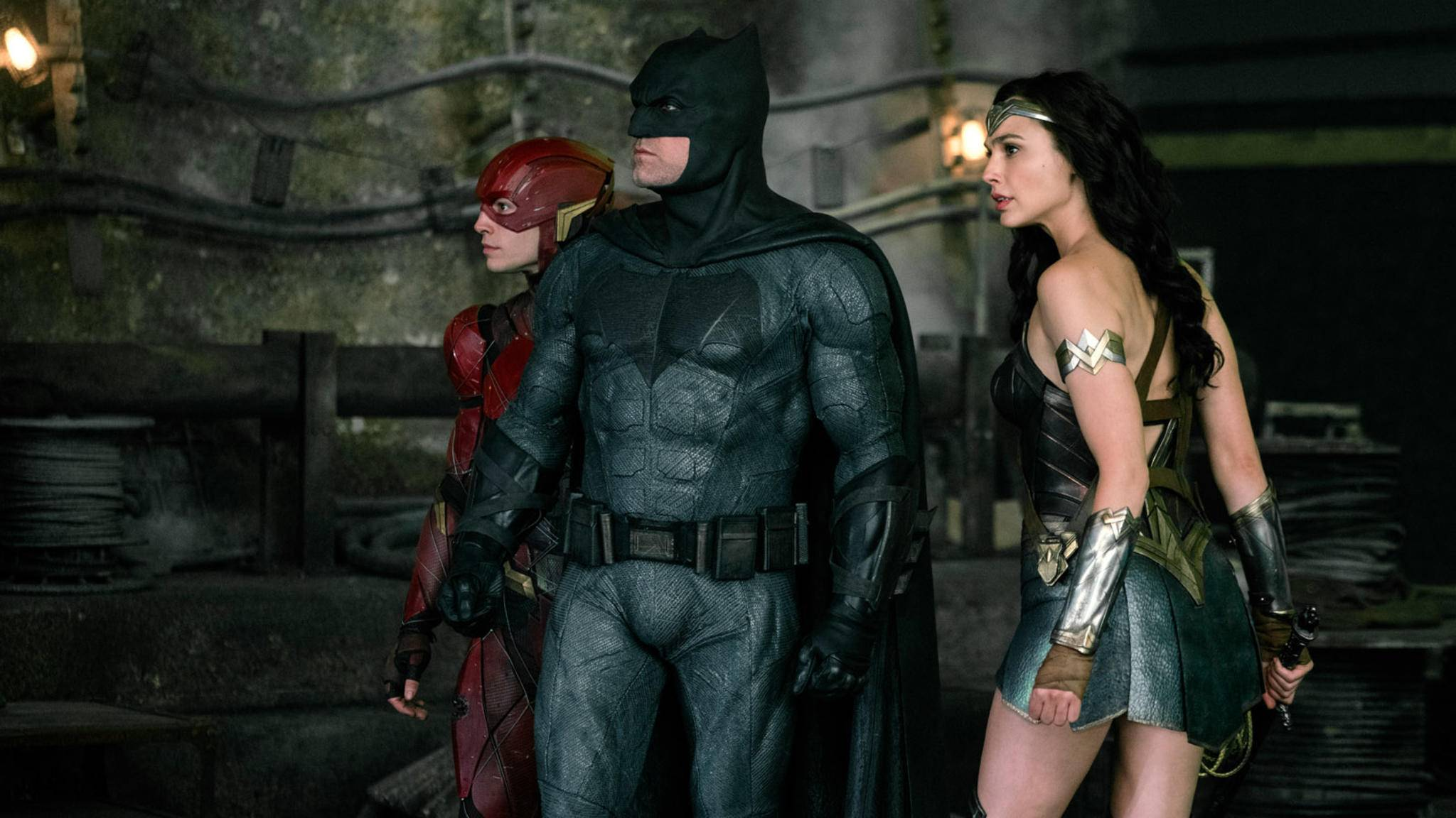 Offenbar naht Verstärkung für The Flash, Batman, Wonder Woman (von links) und Co.