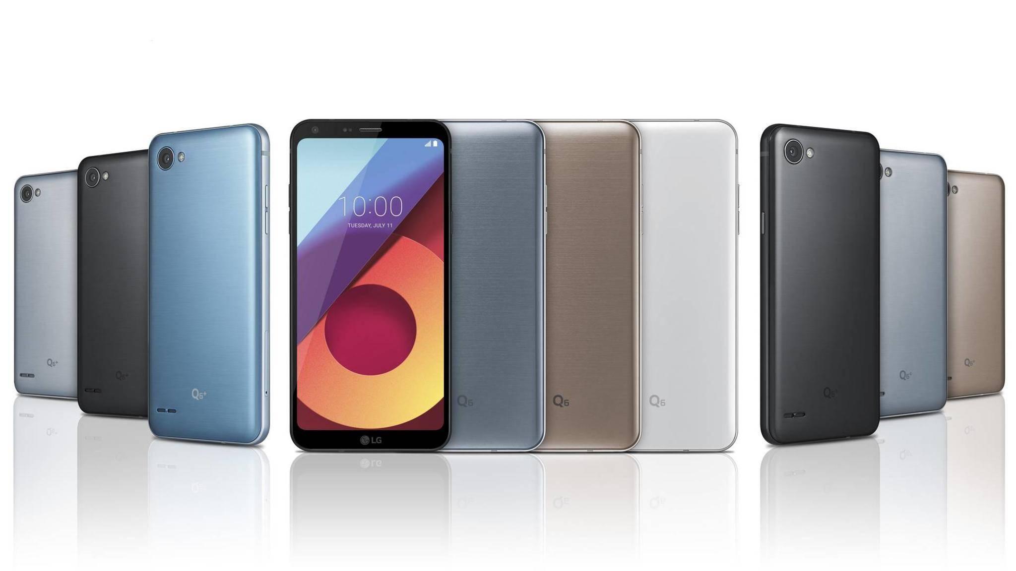 Die neue LG-Q6-Serie bringt randlose Displays in die Mittelklasse.