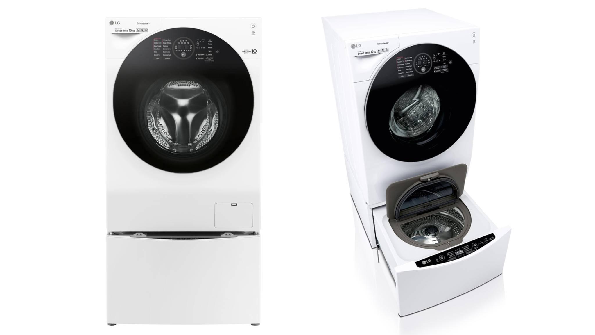 Die neue TWINWash von LG besitzt zwei separate Waschtrommeln.