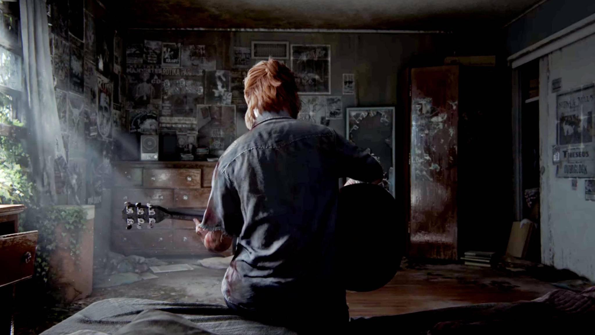 Ellie macht es im ersten Trailer Joel nach und spielt Gitarre.