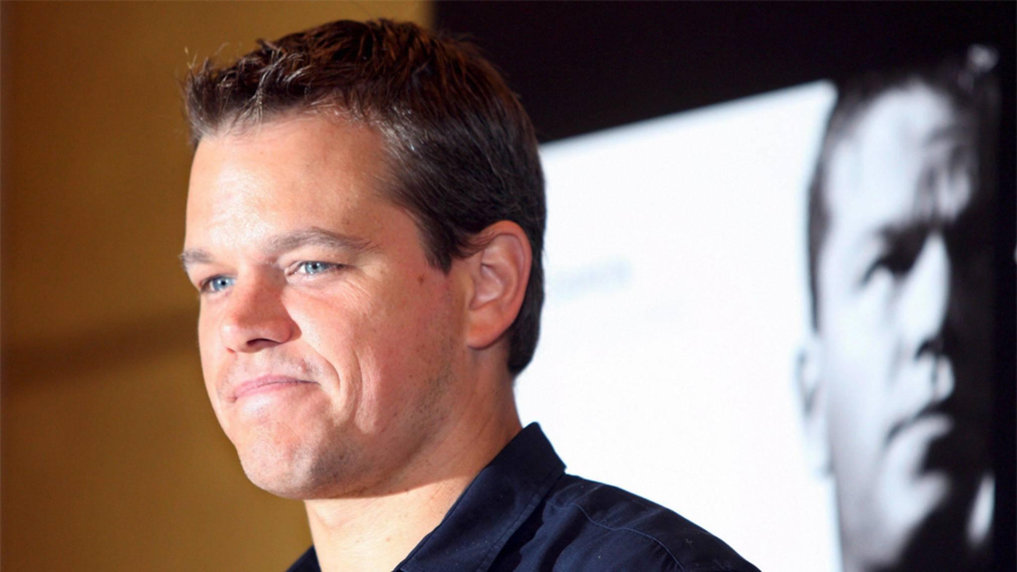 """Verkniffenes Lächeln: Matt Damon ist kein Fan von """"Das Bourne Ultimatum""""."""