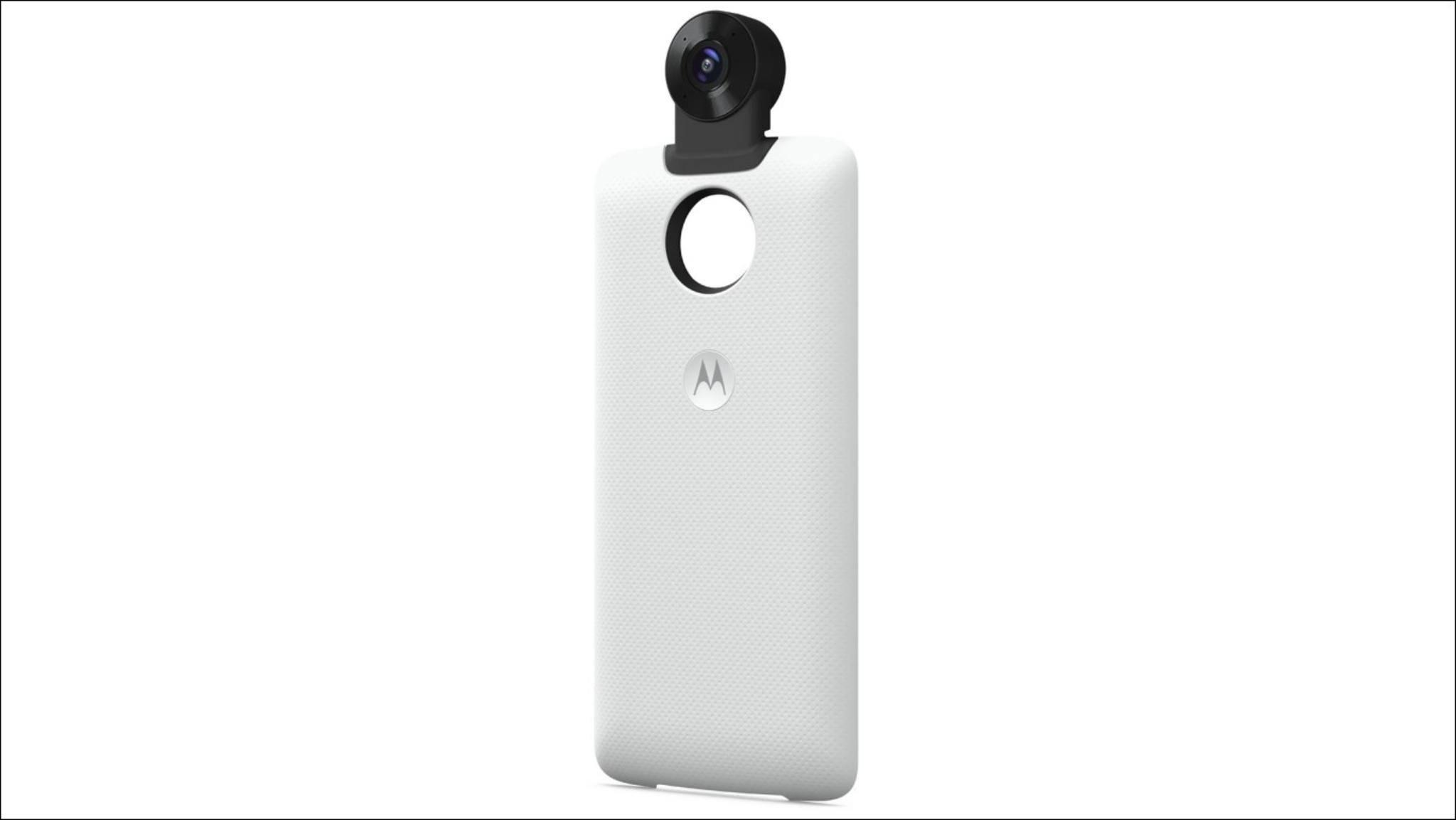 Eine neue Moto Mod ergänzt kompatible Motorla-Smartphones um eine 360-Kamera.