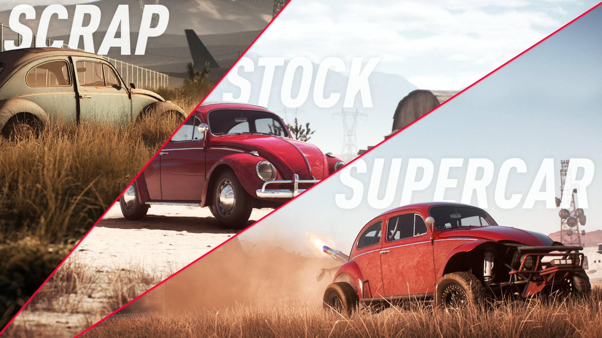 """Vom Schrottteil zur Superkarre: In """"Need for Speed: Payback"""" kannst Du Autowracks finden und hochrüsten."""