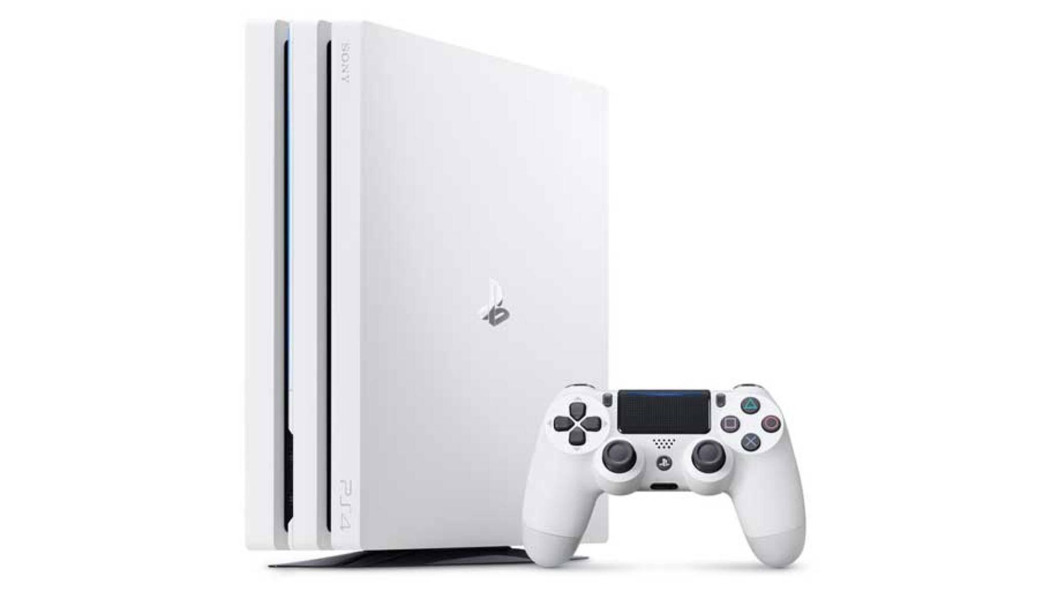 Eine weiße PS4 Pro soll zeitgleich mit der Xbox One X in den Ladenregalen landen.