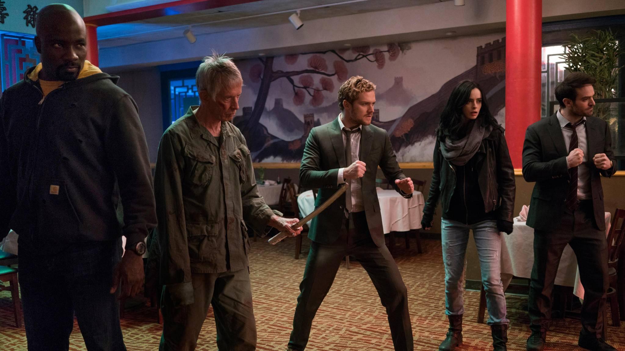 """Unter anderem machte Marvel mit einem neuen Trailer zur kommenden Serie """"The Defenders"""" Lust auf mehr."""