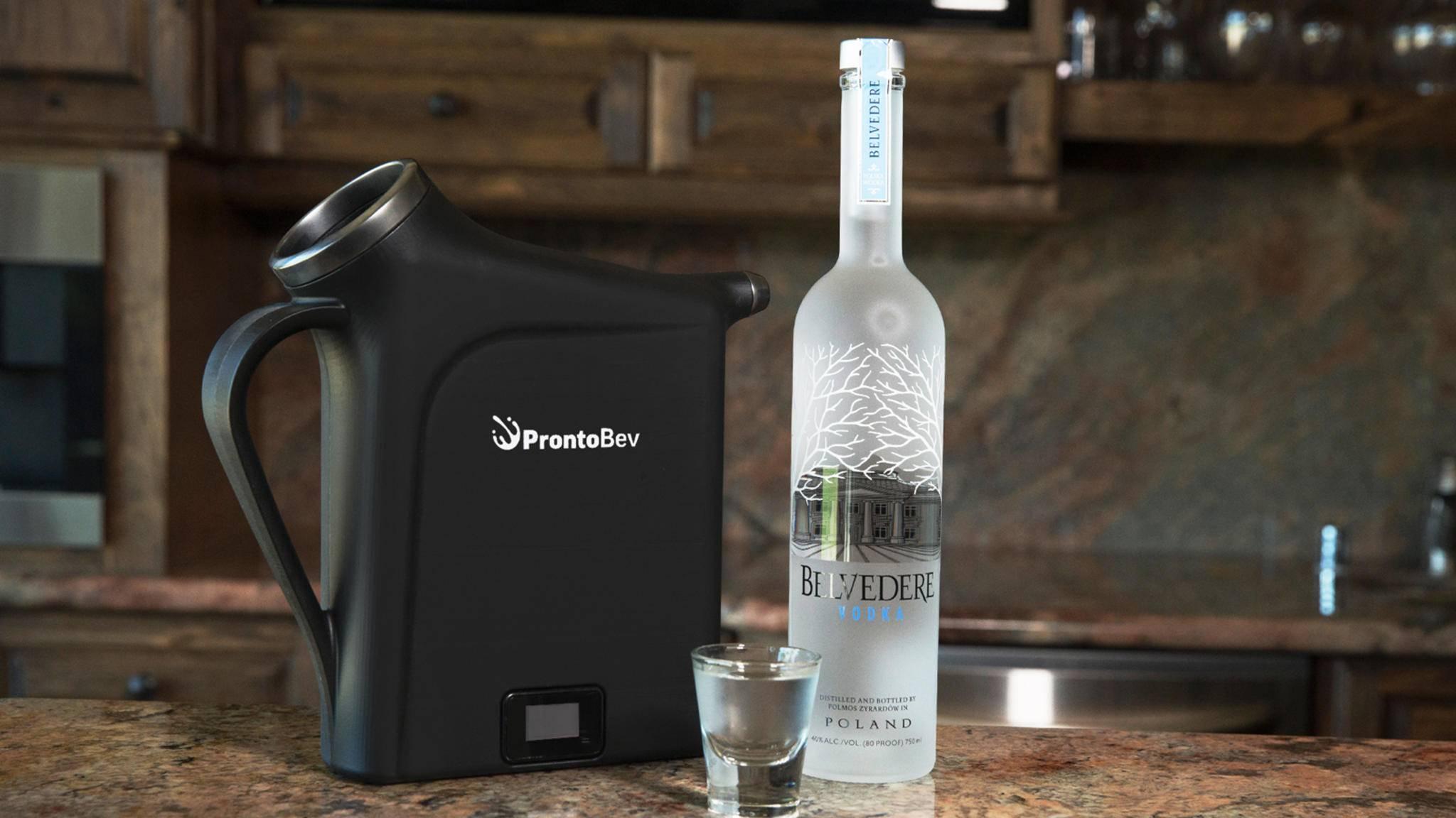 ProntoBev soll für alle möglichen Getränke von Alkohol über Saft bis hin zu heißem Kaffee geeignet sein.