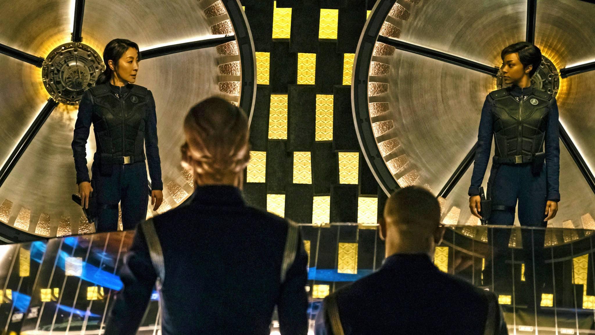 """Die Damen in """"Star Trek: Discovery"""" dürfen ihre Uniformen wohl (größtenteils) anbehalten."""