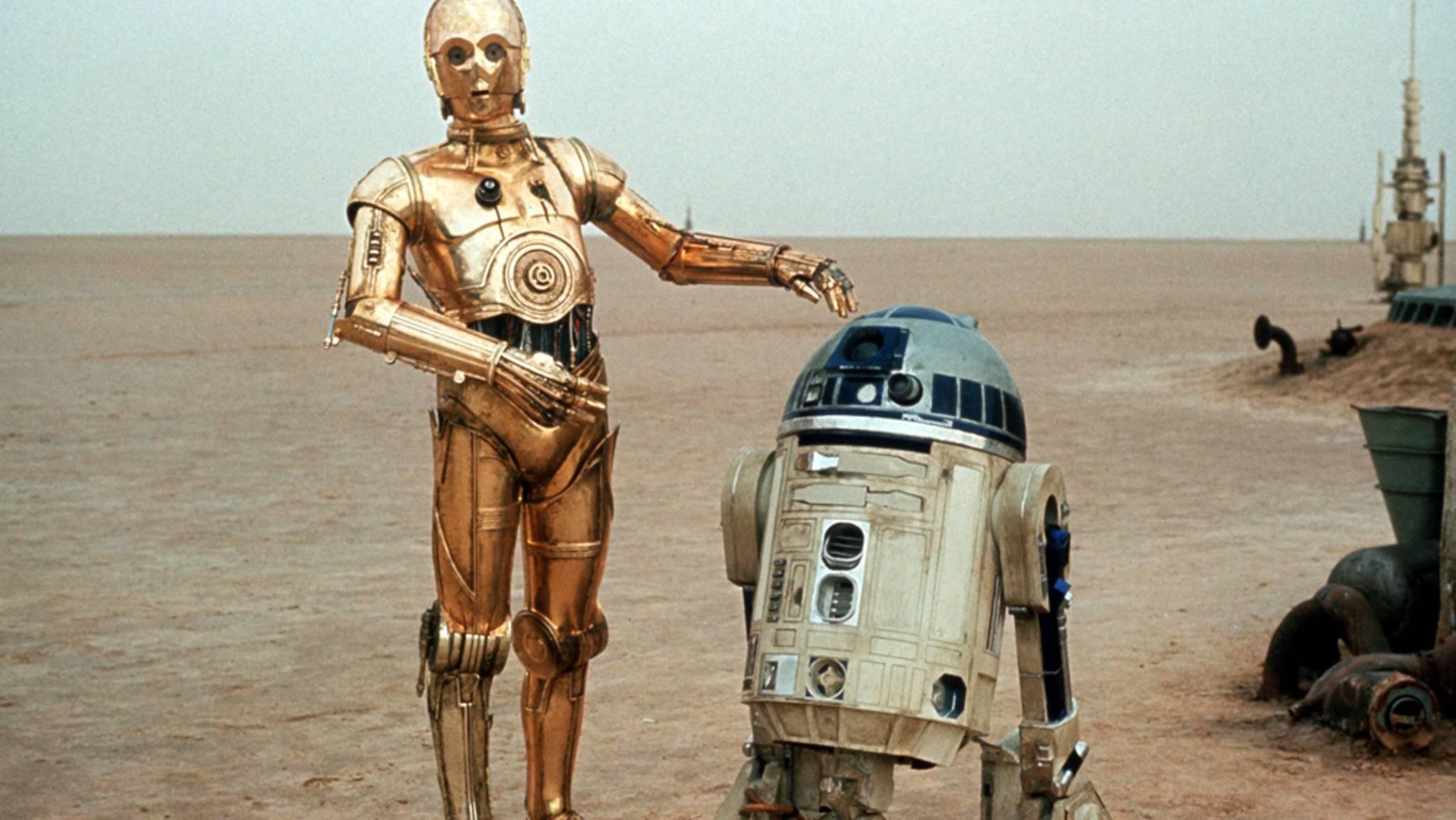 """R2-D2 und sein goldener Kumpel C-3PO gehören zu den heimlichen Stars von """"Star Wars""""."""
