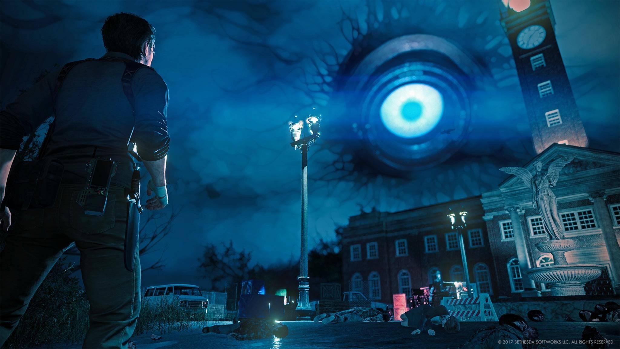 """""""The Evil Within 2"""" entführt den Spieler in eine albtraumhafte Kleinstadt."""
