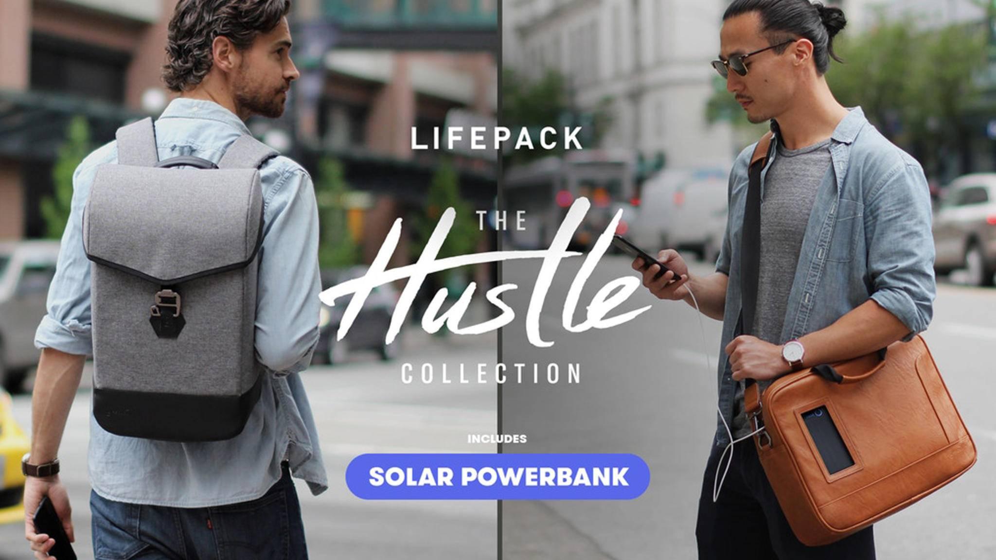 Die Taschen aus der Lifepack Hustle-Kollektion sind in zwei Varianten und sechs verschiedenen Designs zu haben.