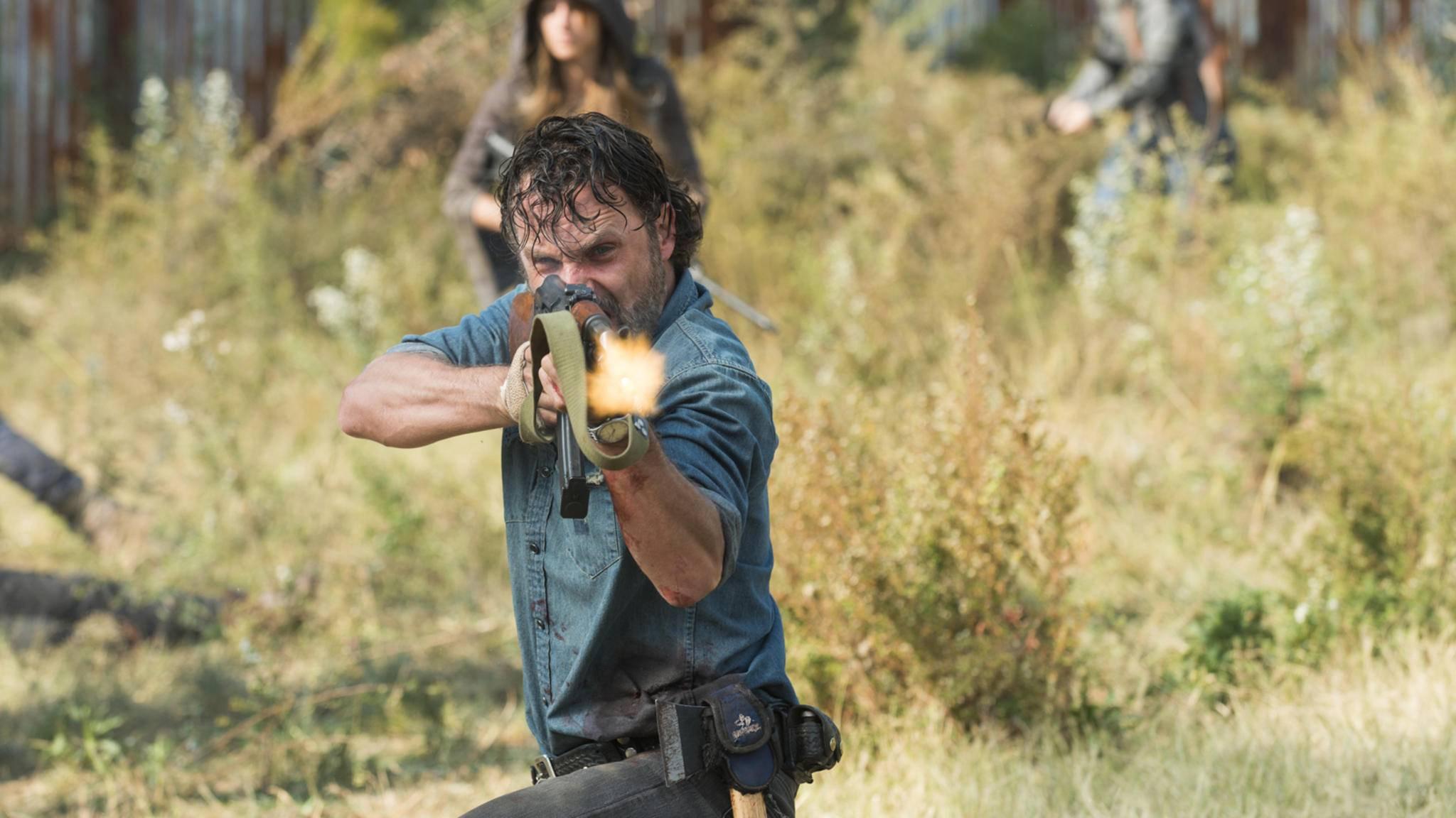 Fest entschlossen: In Staffel 8 wird Rick seinem Feind Negan zeigen, wo der Hammer hängt.