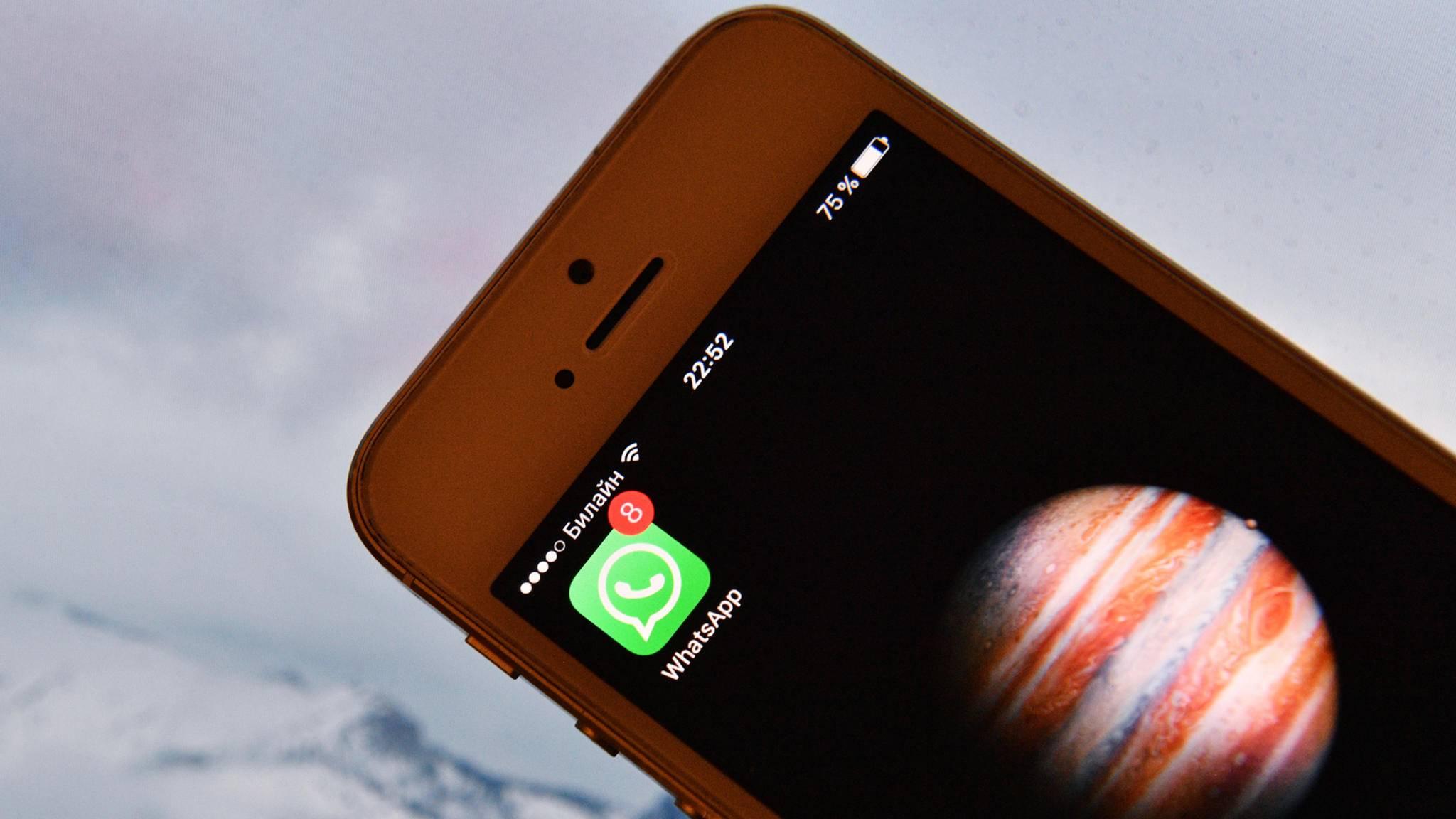 WhatsApp feiert den nächsten Meilenstein.