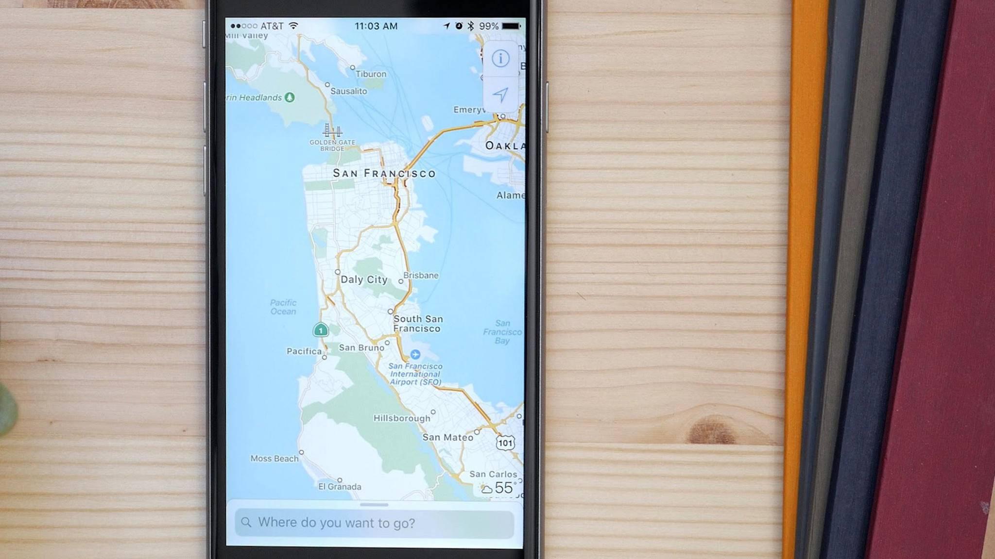 Apple Karten lässt sich auch offline nutzen – mit einigen Einschränkungen.