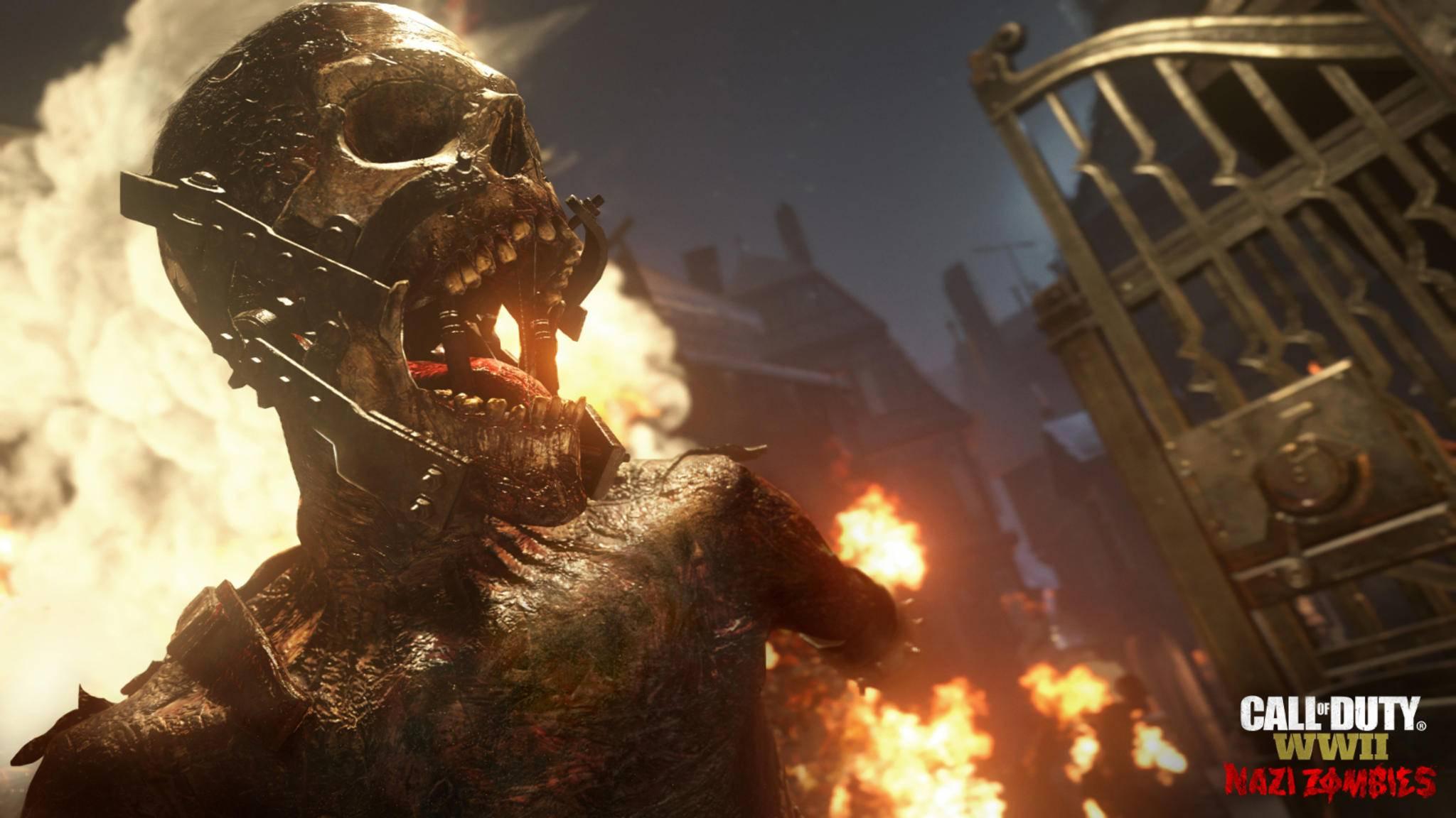 """Auch in """"Call of Duty: Black Ops 4"""" wird es, wie hier in """"Call of Duty: WW2"""", wieder einen Zombie-Modus geben."""