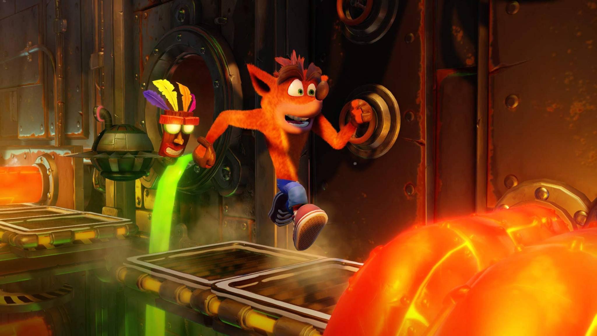 Crash erinnert an die guten alten Zeiten, als Spielfiguren noch ständig ins Jenseits verfrachtet wurden.