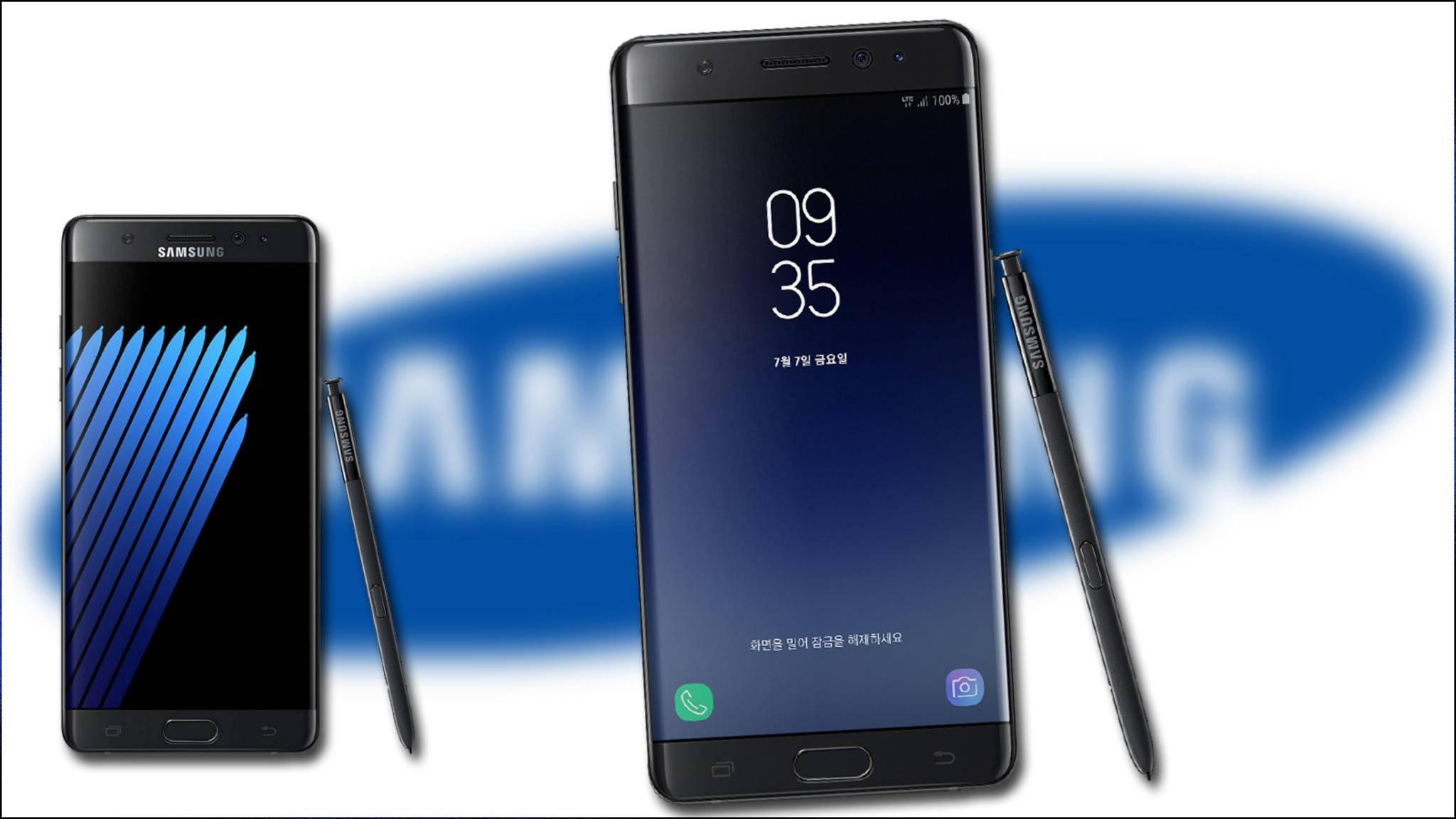 Das Galaxy Note FE im Vergleich zum Galaxy Note 7