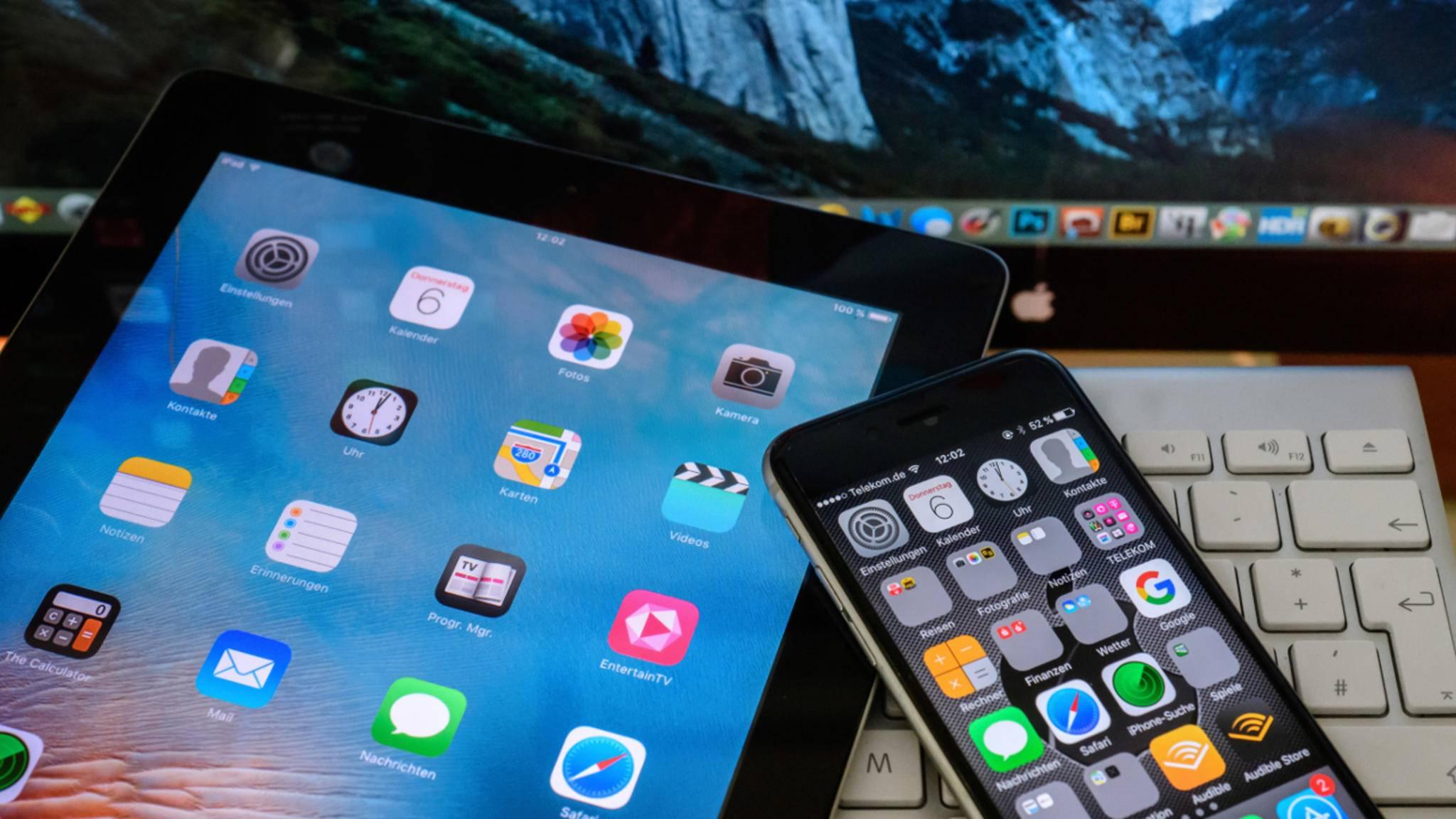 Mit der iCloud kannst Du von unterschiedlichen Geräten auf Deine Daten zugreifen.