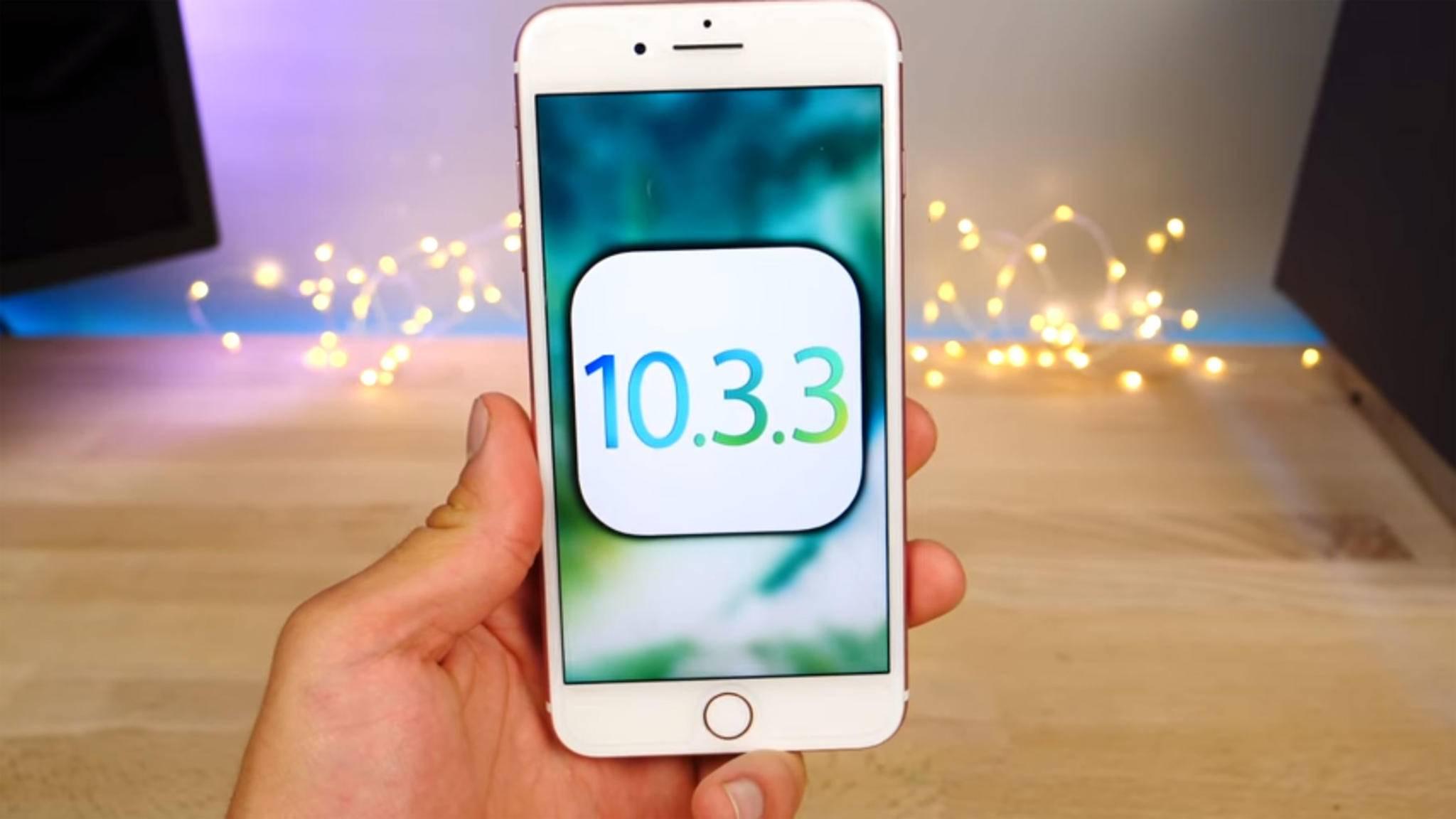 iOS 10.3.3 dient vor allem der Behebung von Fehlern.