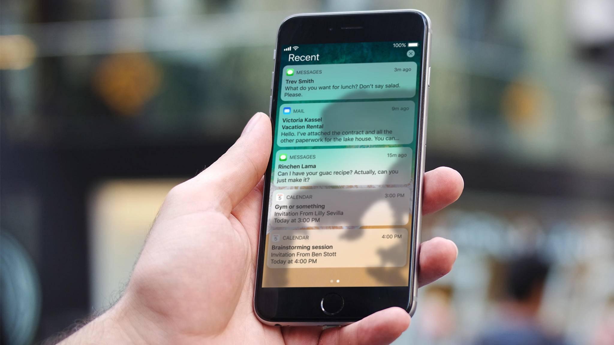 In iOS 11 werden die Benachrichtigungen etwas anders als noch in iOS 10 verwaltet.